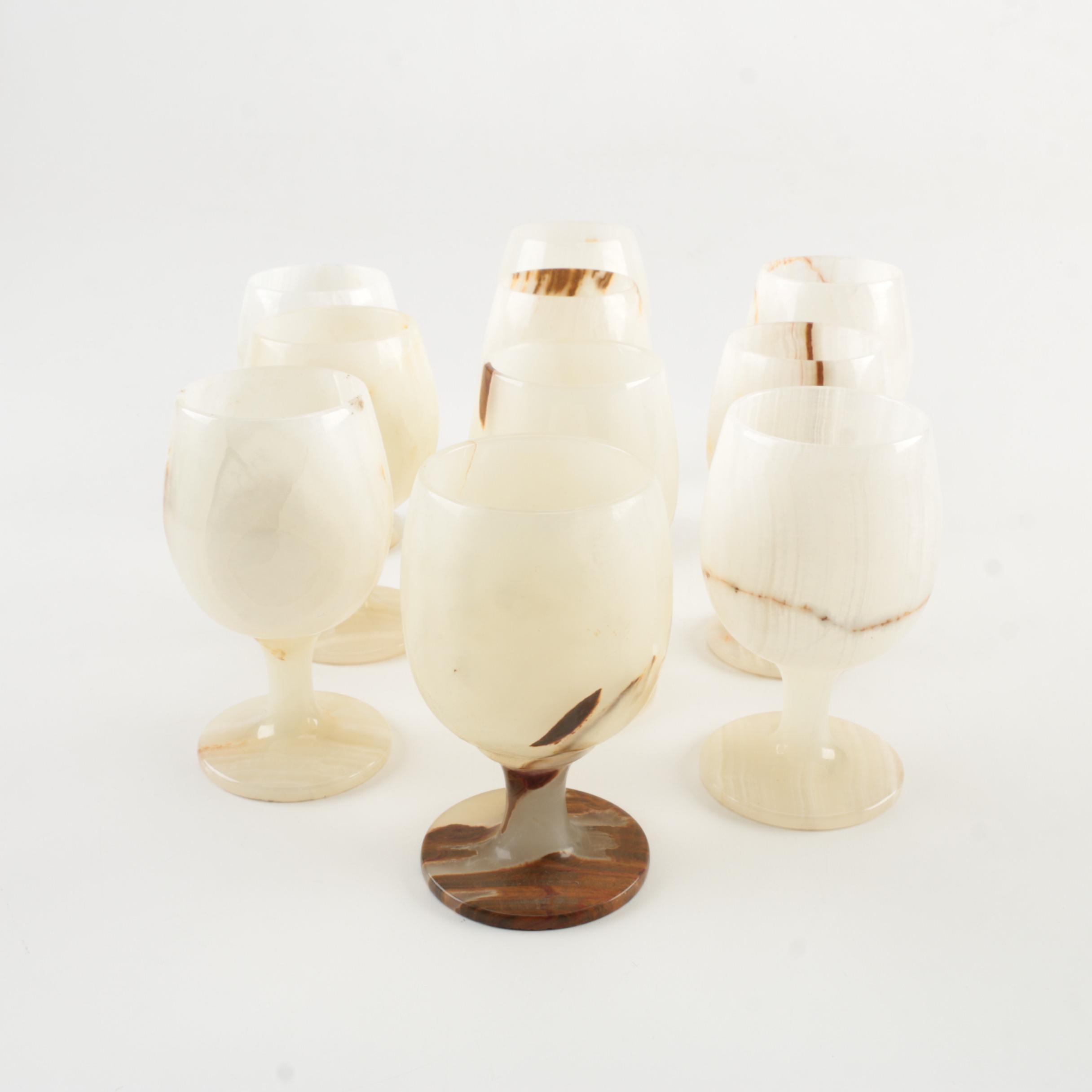 Banded Calcite Goblets
