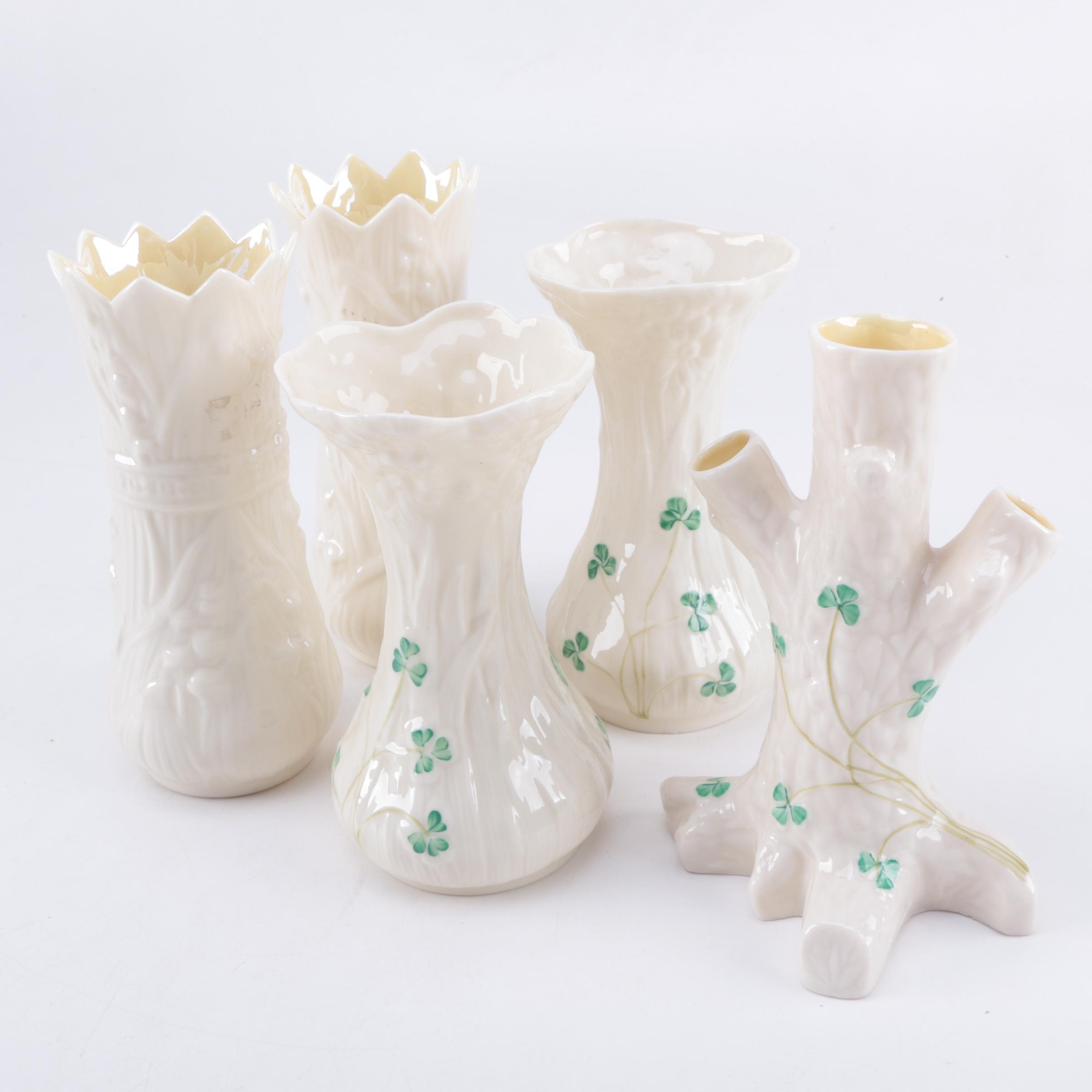 Belleek Porcelain Bud Vases