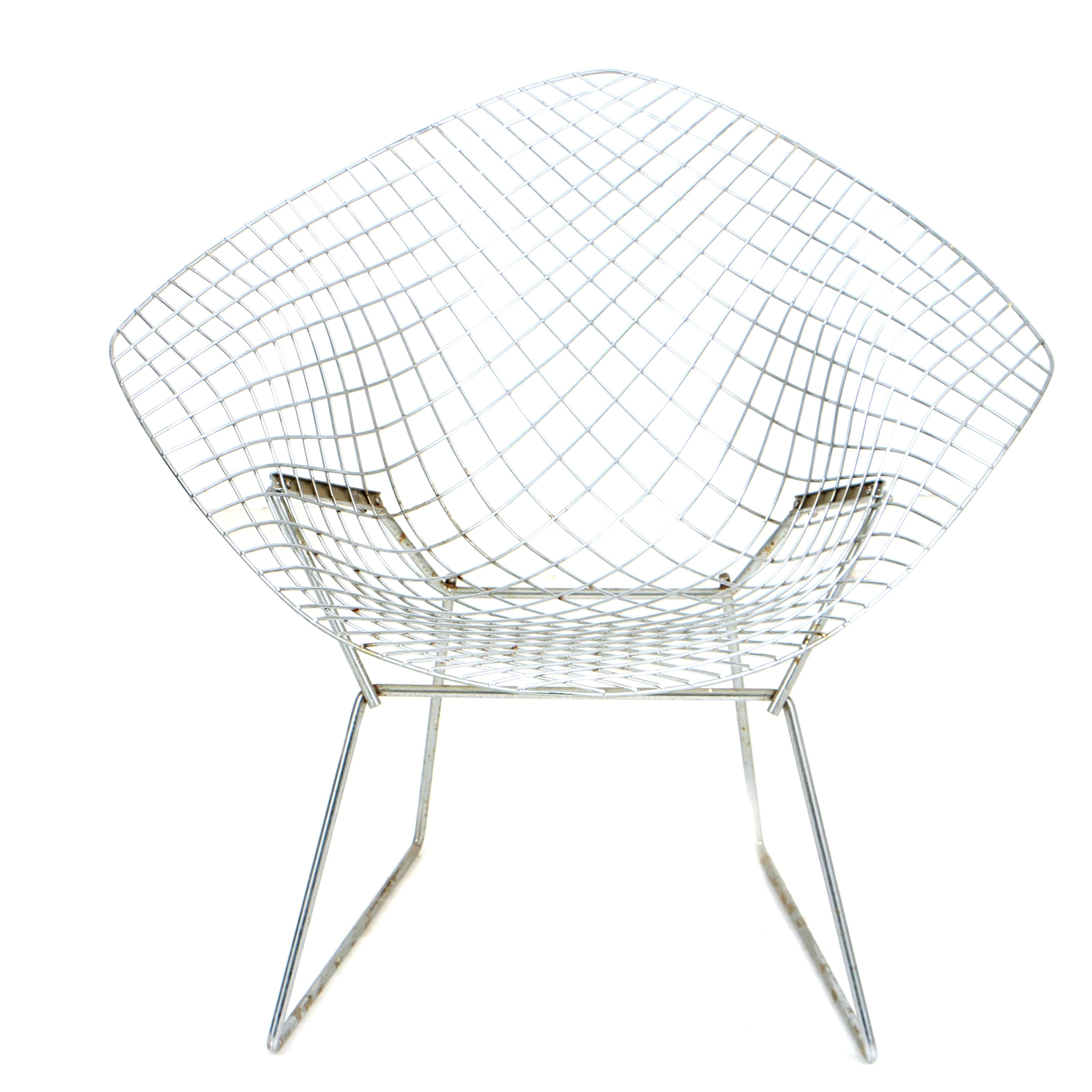 """Vintage Modernist """"Diamond"""" Chair by Harry Bertoia for Knoll"""