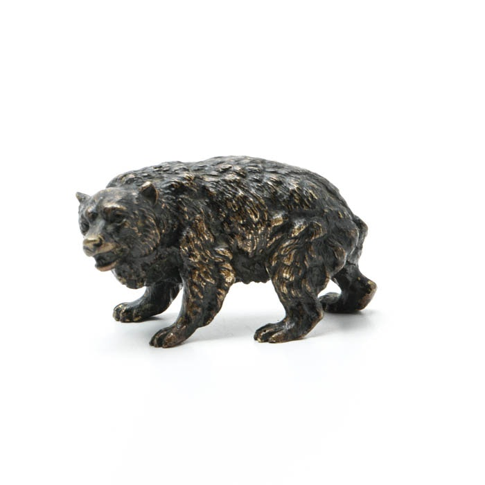 Antique Miniature Vienna Bronze Bear
