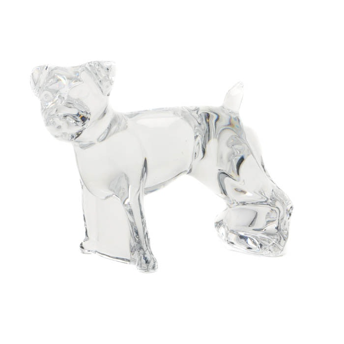 Baccarat Crystal Terrier Dog Figurine