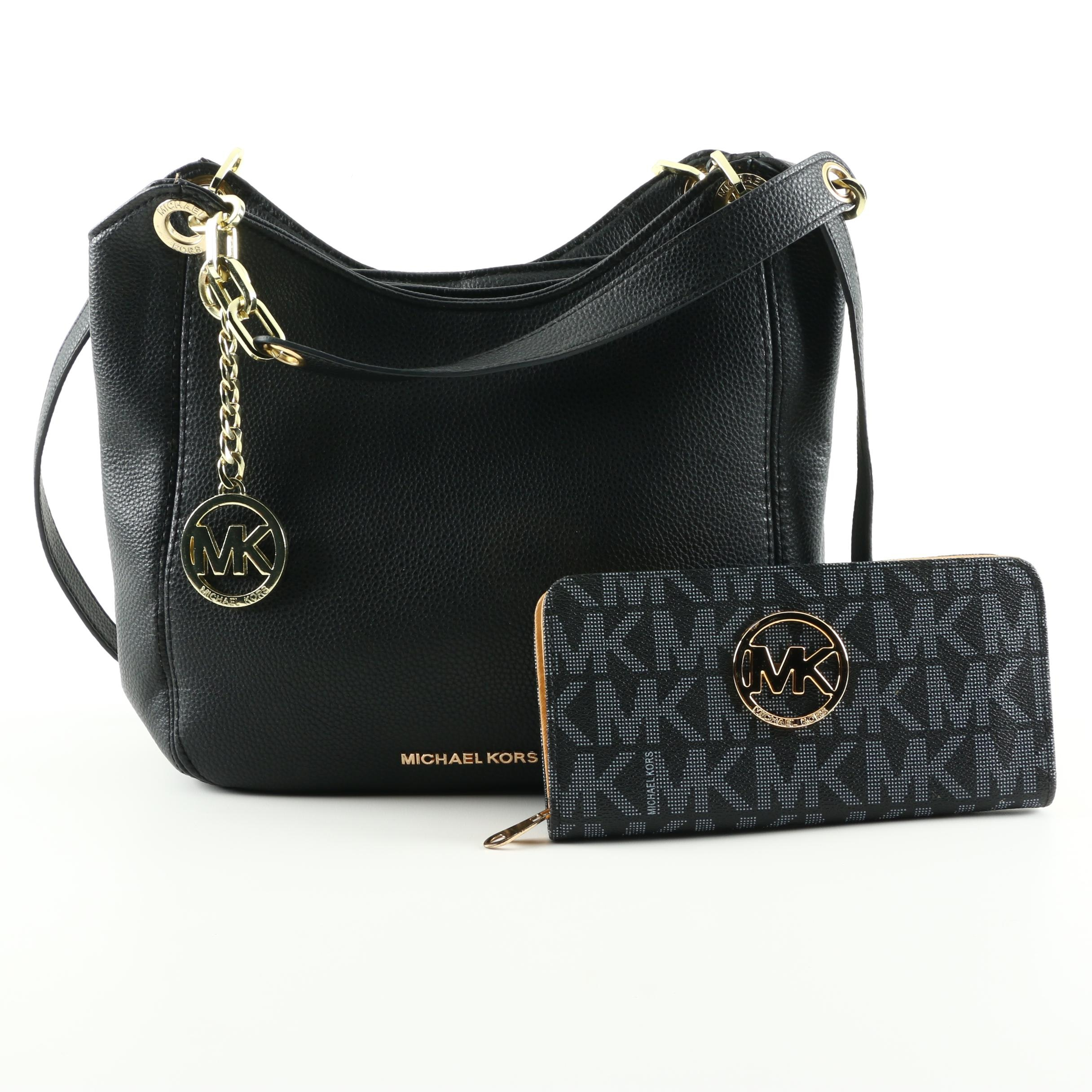 Michael Kors Black Handbag and Wallet