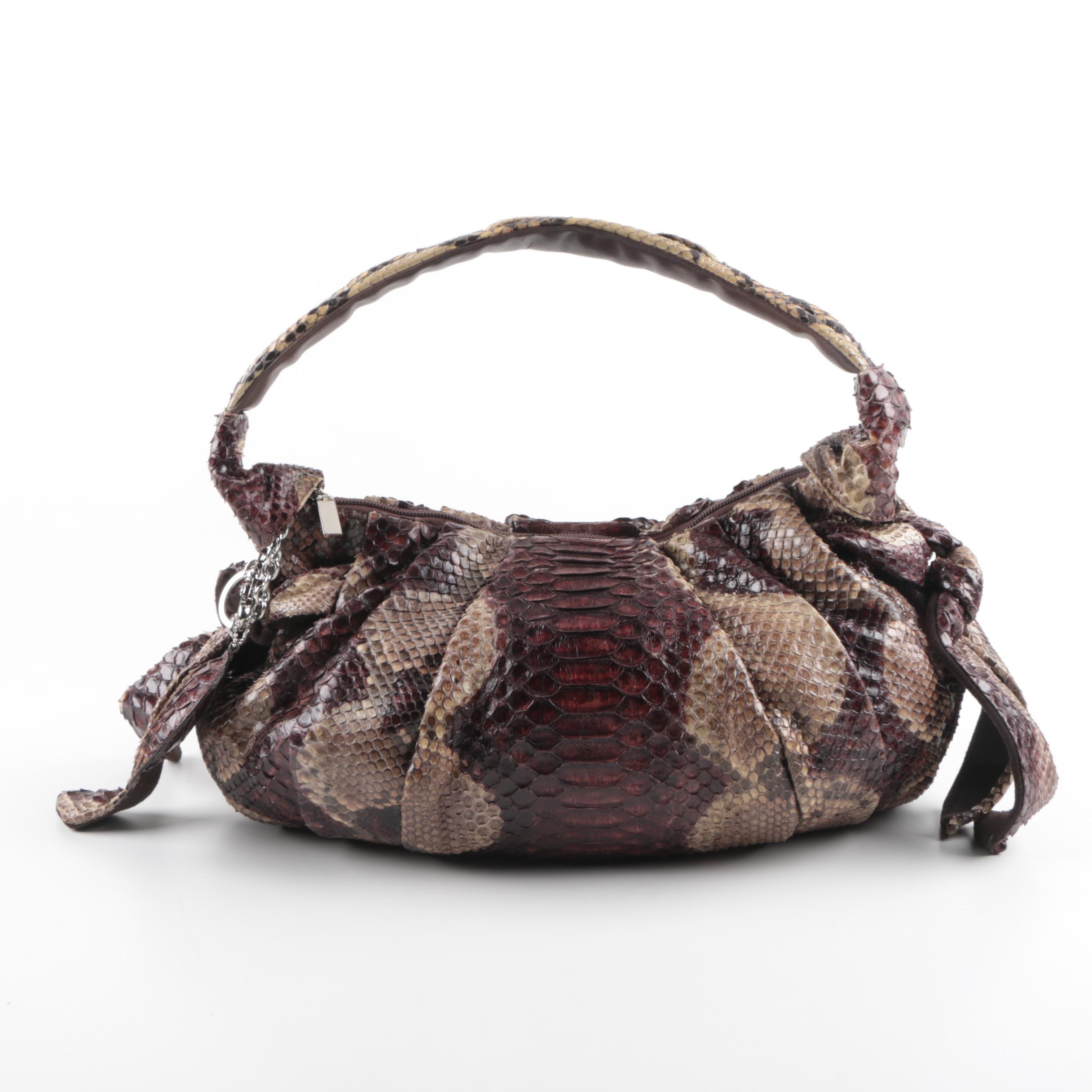Struzzo Paolo Bentini Python Skin Handbag