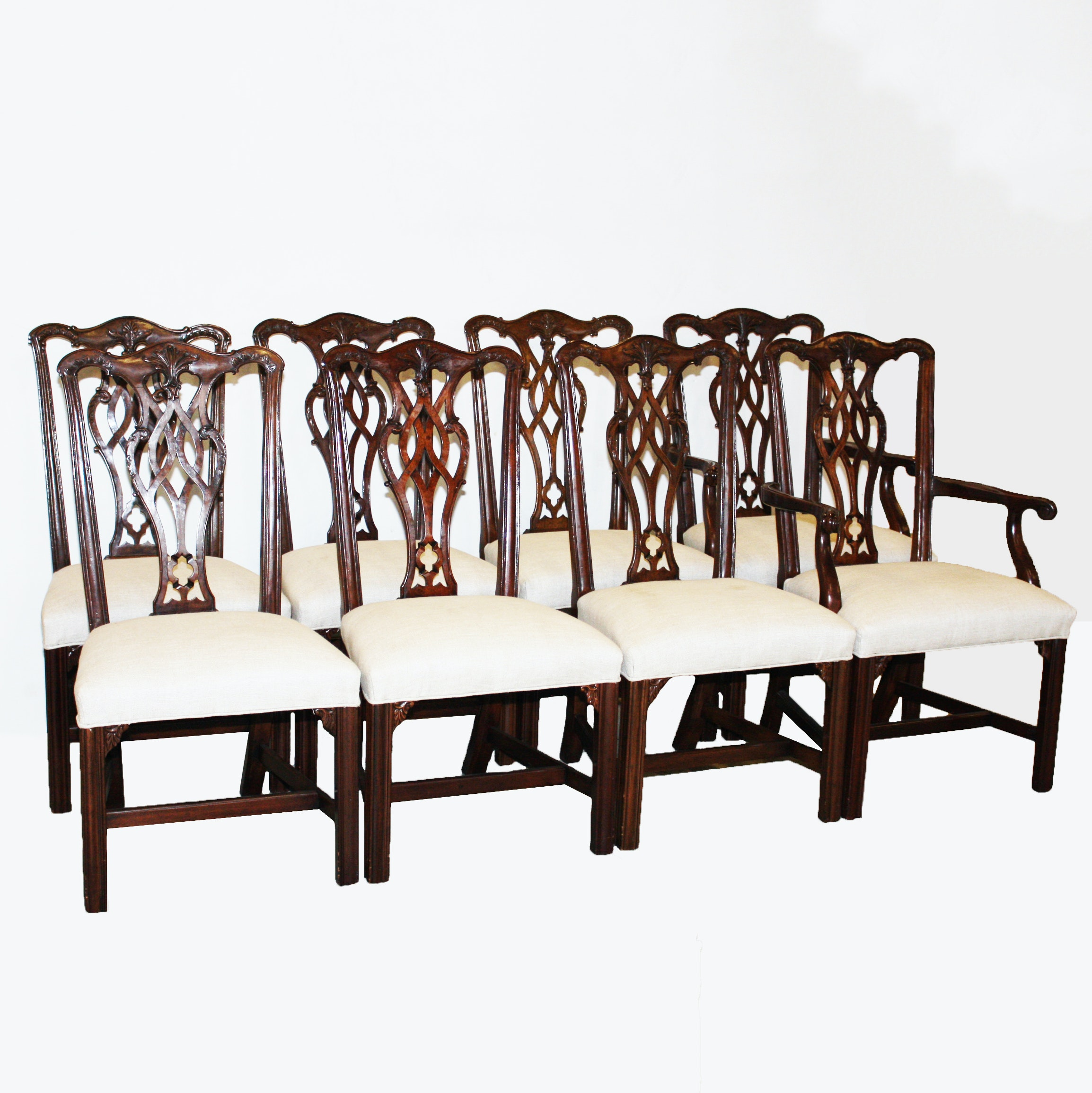Set of Chippendale Style Dining Chairs
