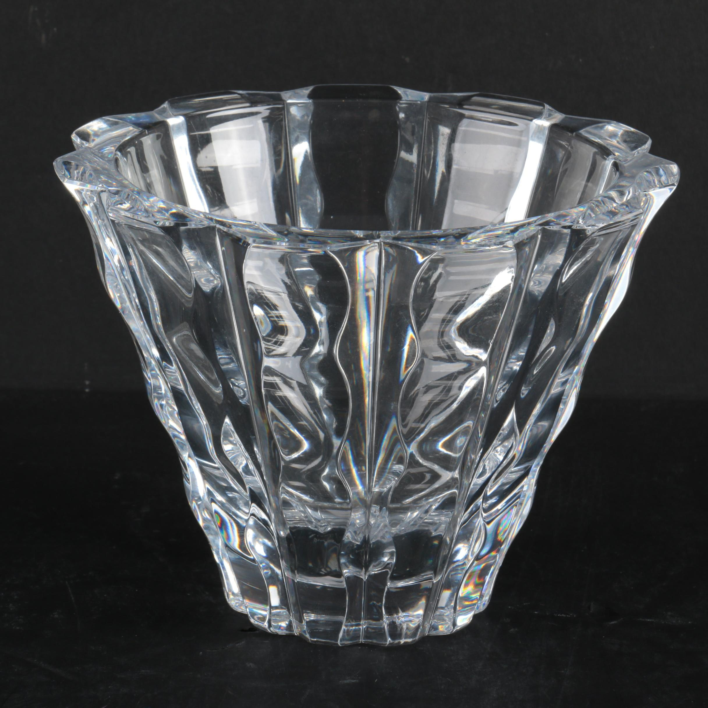 "Vintage Orrefors ""Waves"" Crystal Vase"