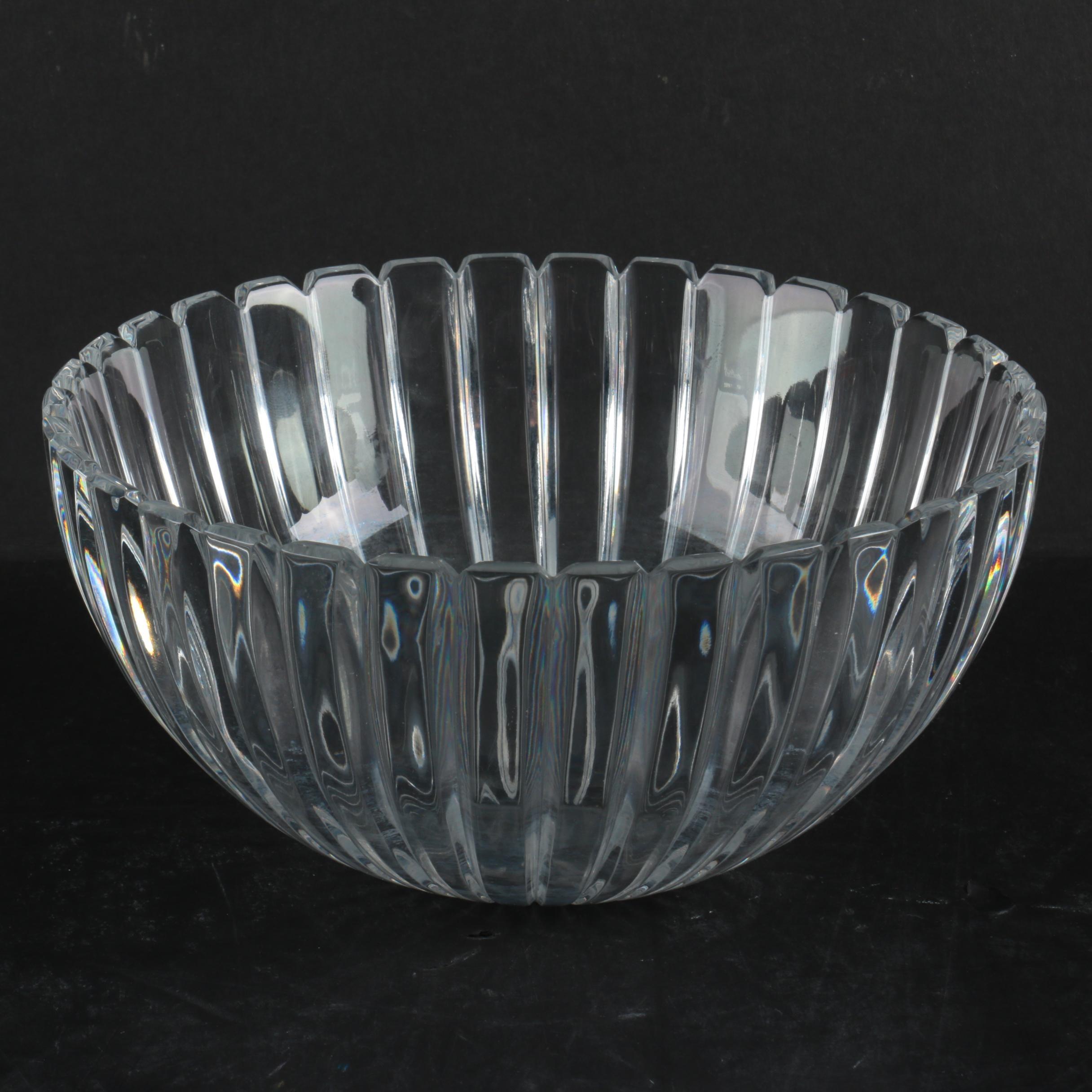 "Tiffany & Co. Josef Reidel ""Vertical"" Crystal Bowl"