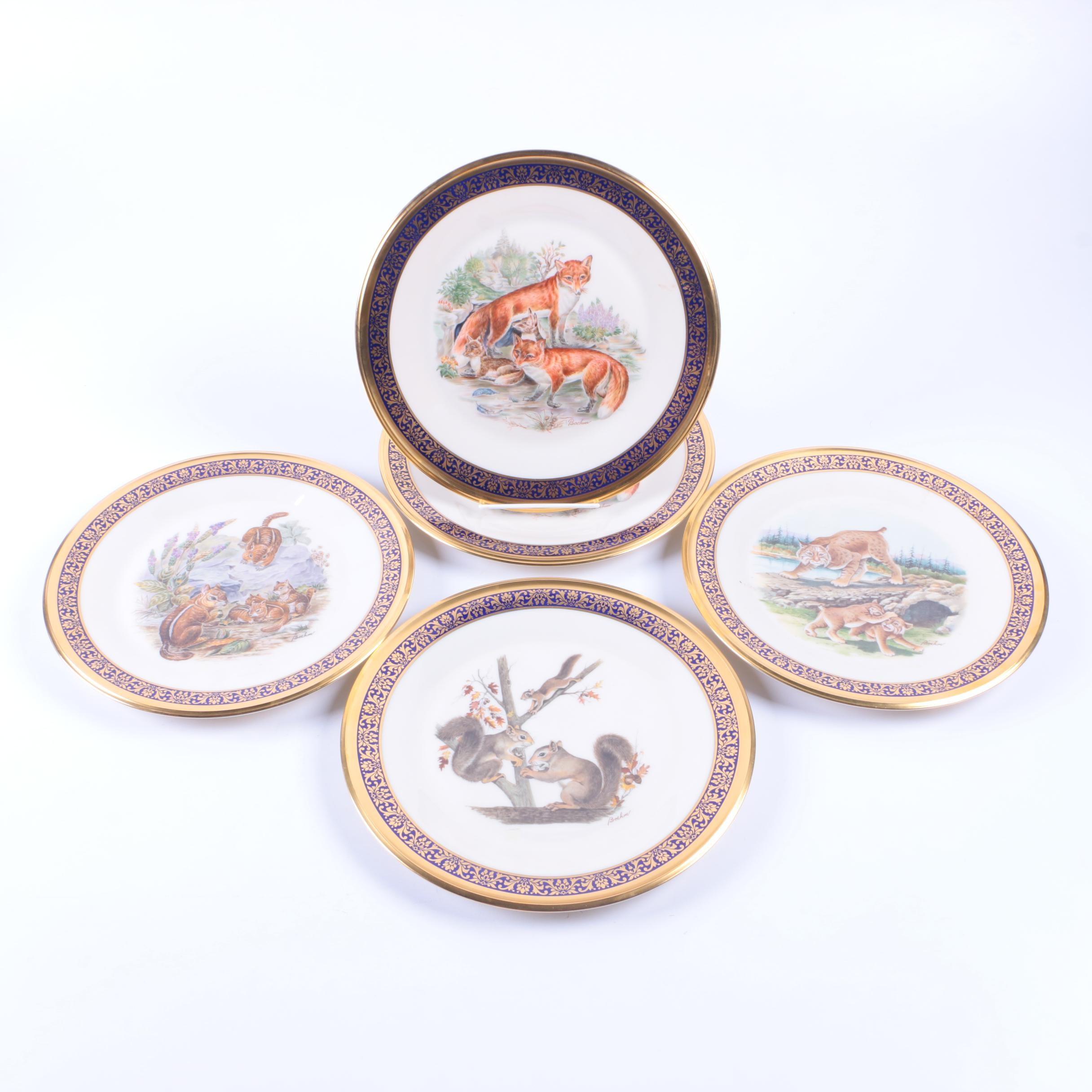 "Lenox ""Woodland Wildlife"" Decorative Plates"