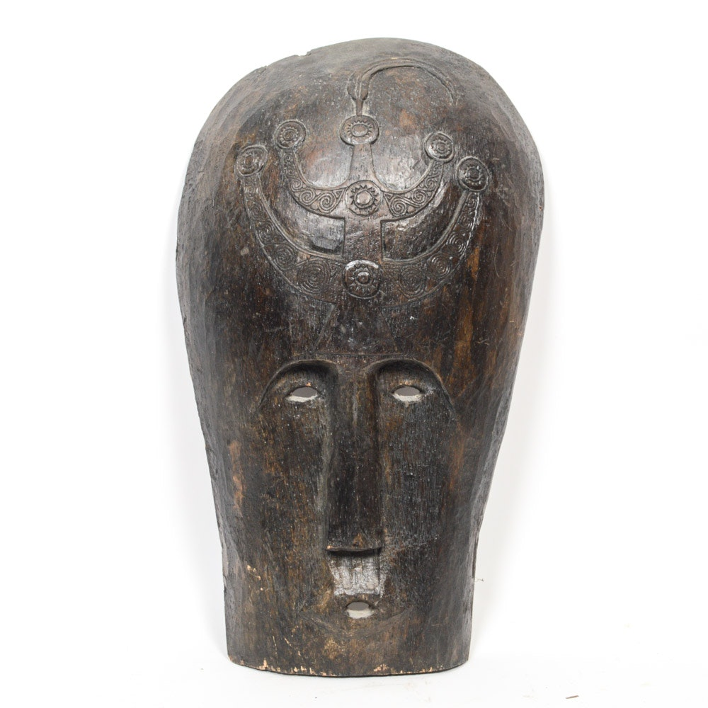 Hand Carved African Chest Mask