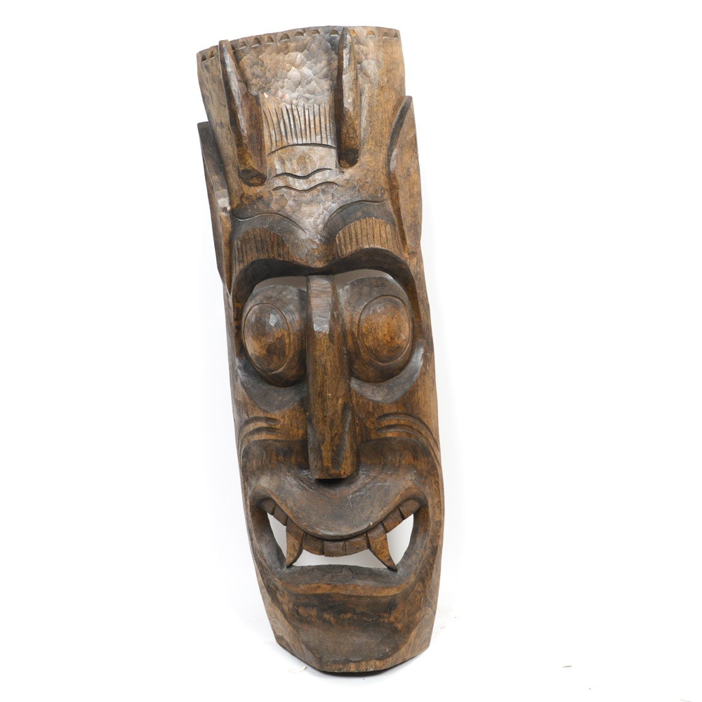 Hand Carved Balinese Decorative Mask