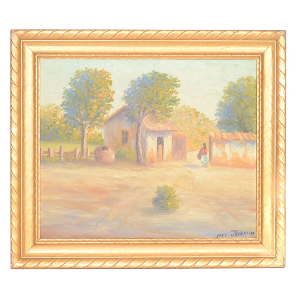 1953 Jearacho Oil on Board Painting
