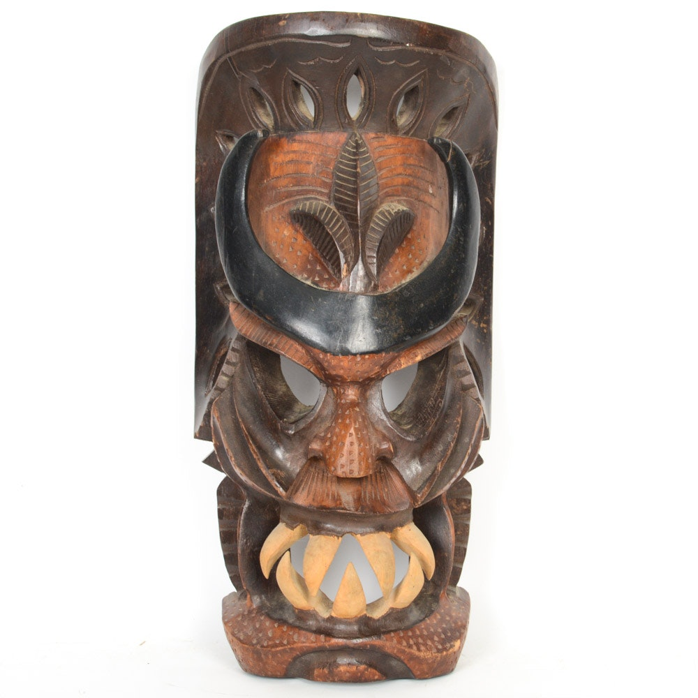 Hand Carved Indonesian Wooden Mask