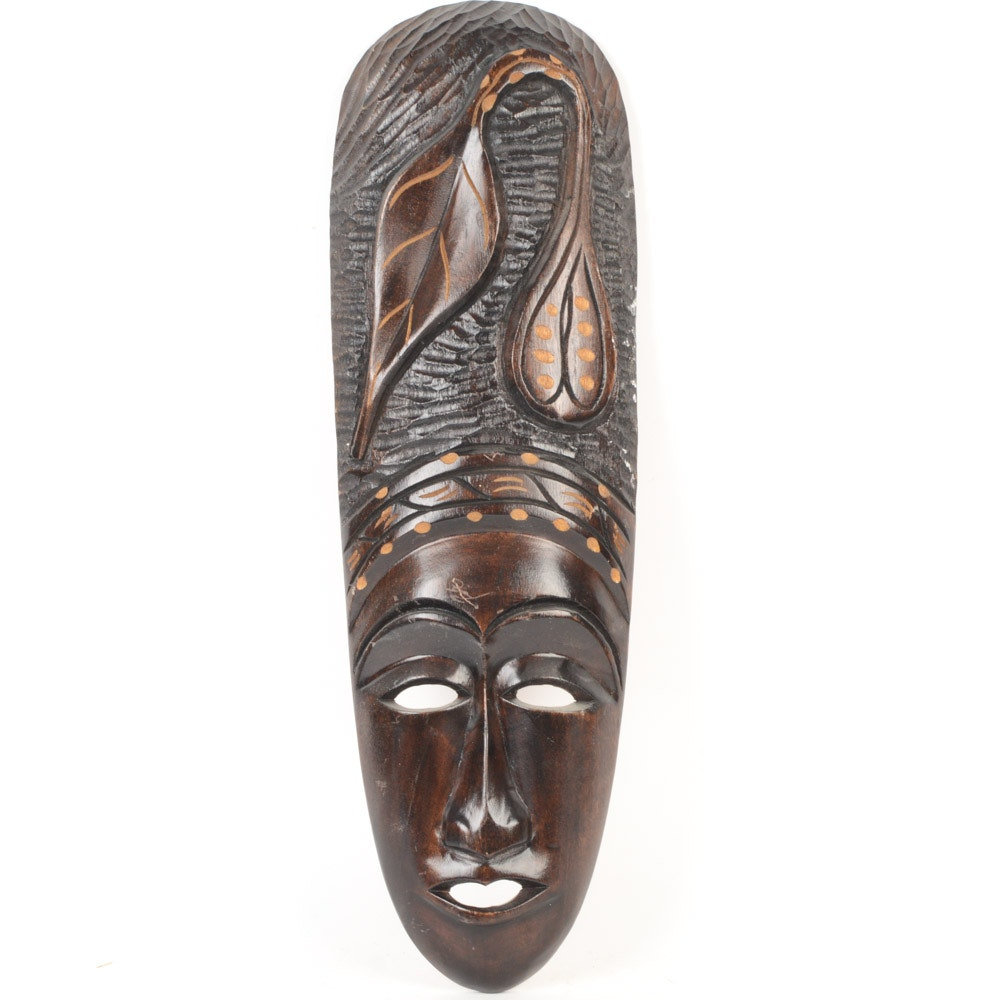 Haitian Hand Carved Wooden Mask