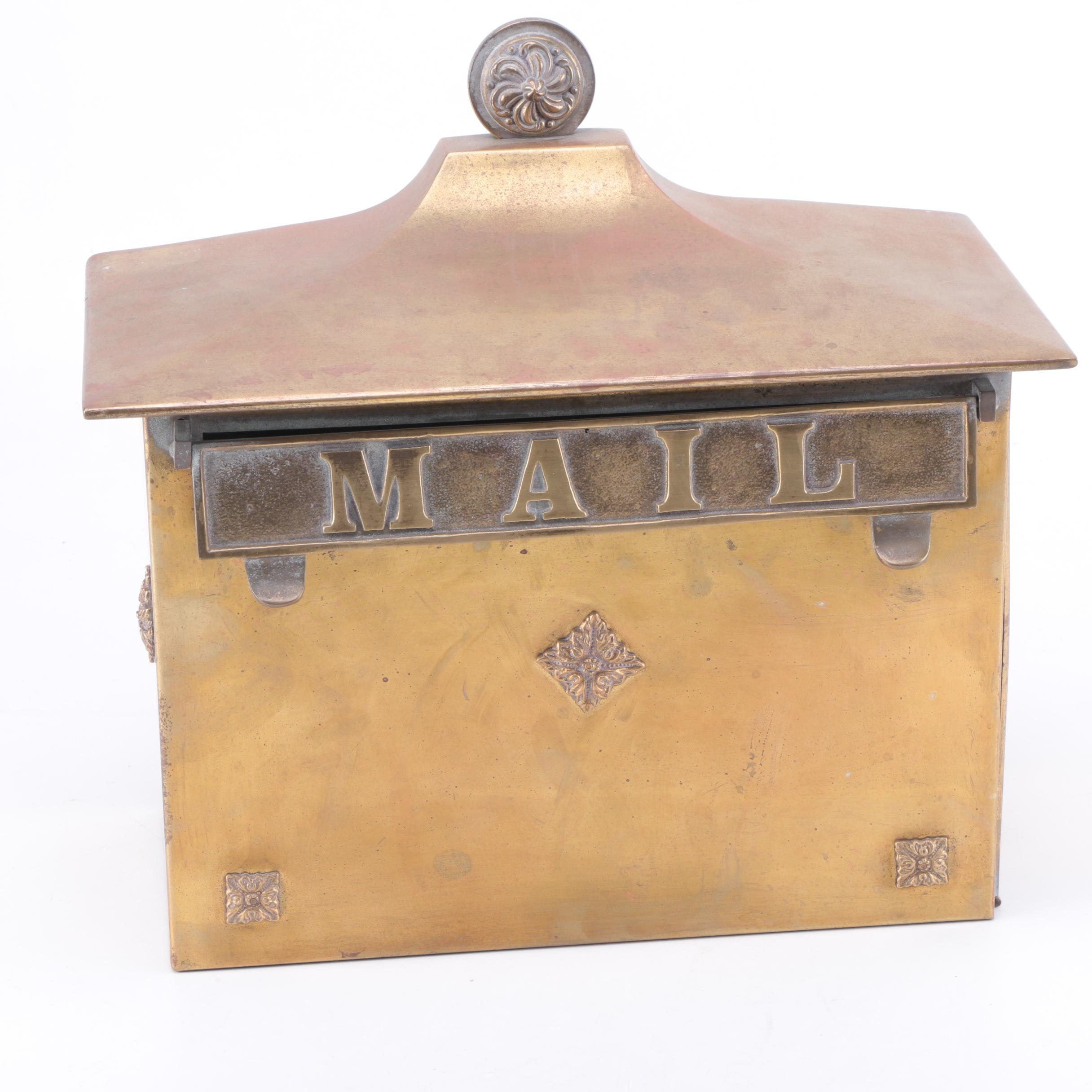 Brass Wall Mount Mailbox