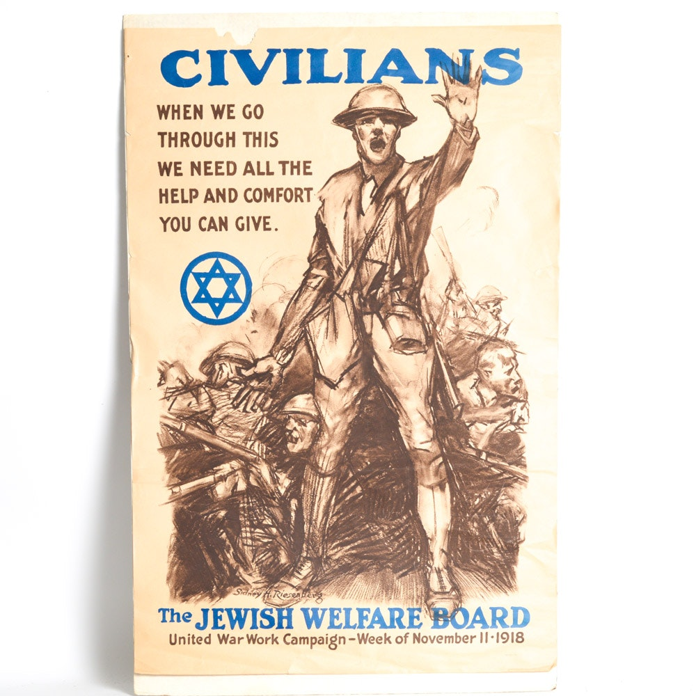 Sidney Riesenberg Jewish Welfare Board Poster