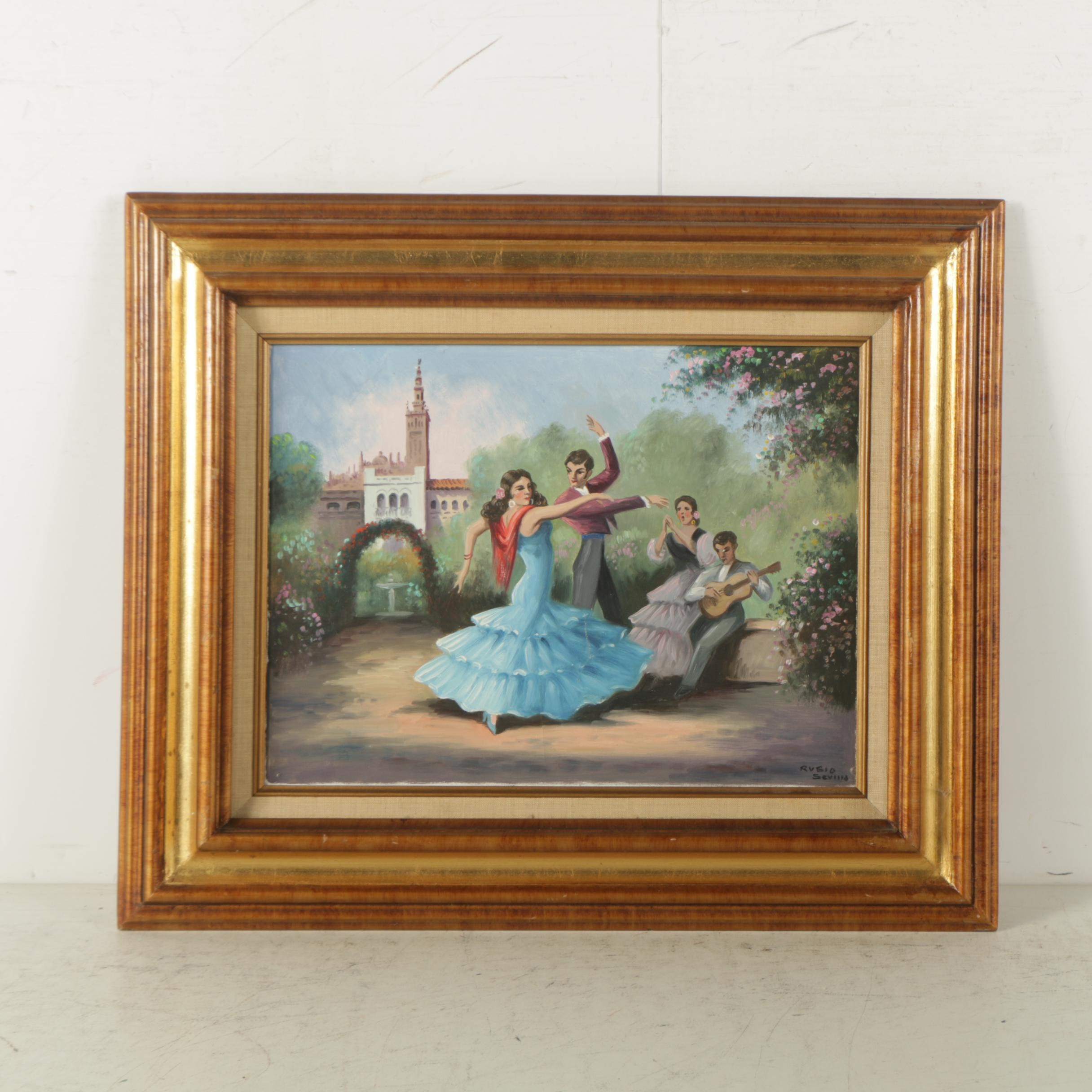 Oil Painting on Canvas of Flamenco Dancers