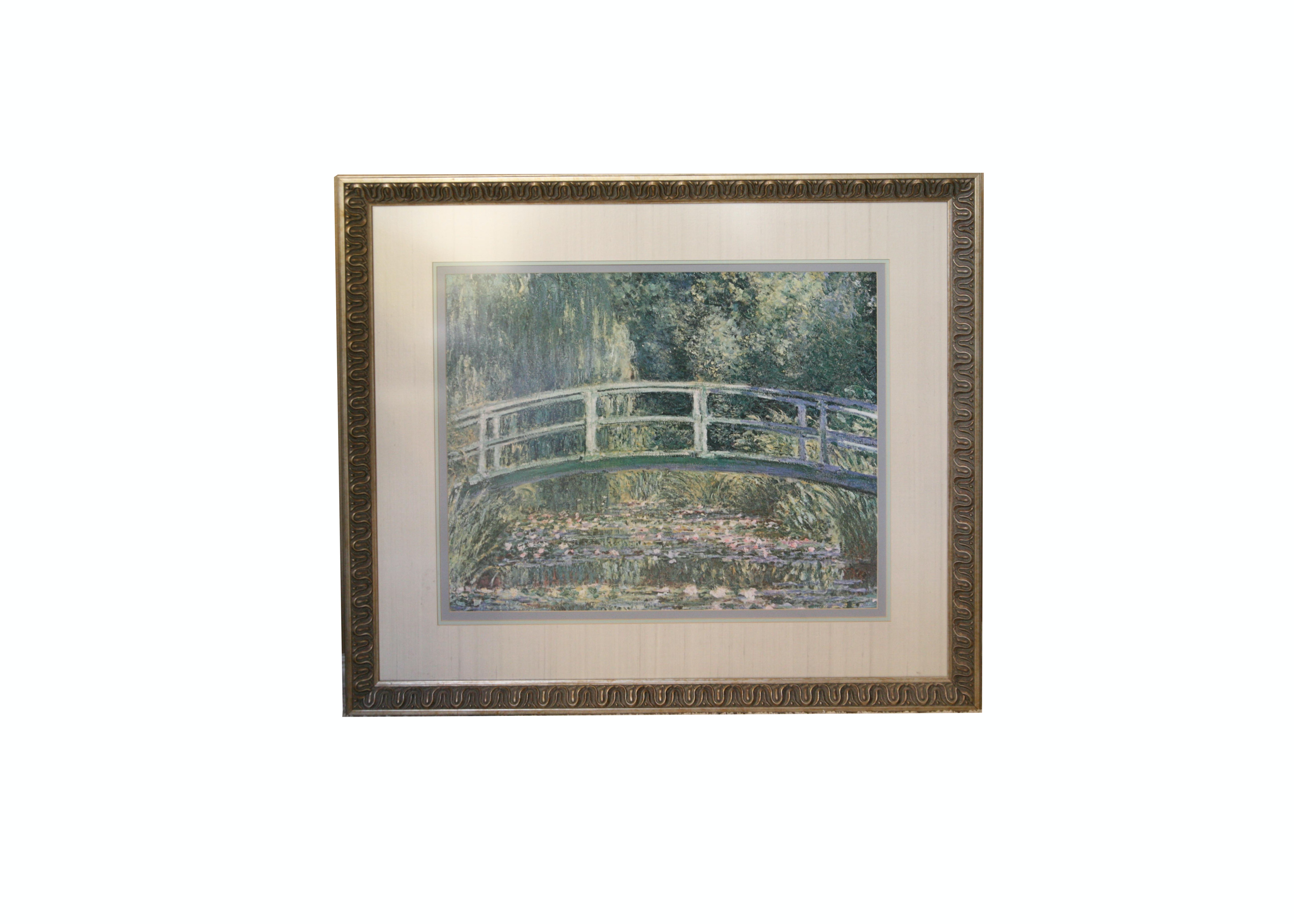 "Reproduction Print on Paper After Claude Monet ""The Japanese Footbridge"""