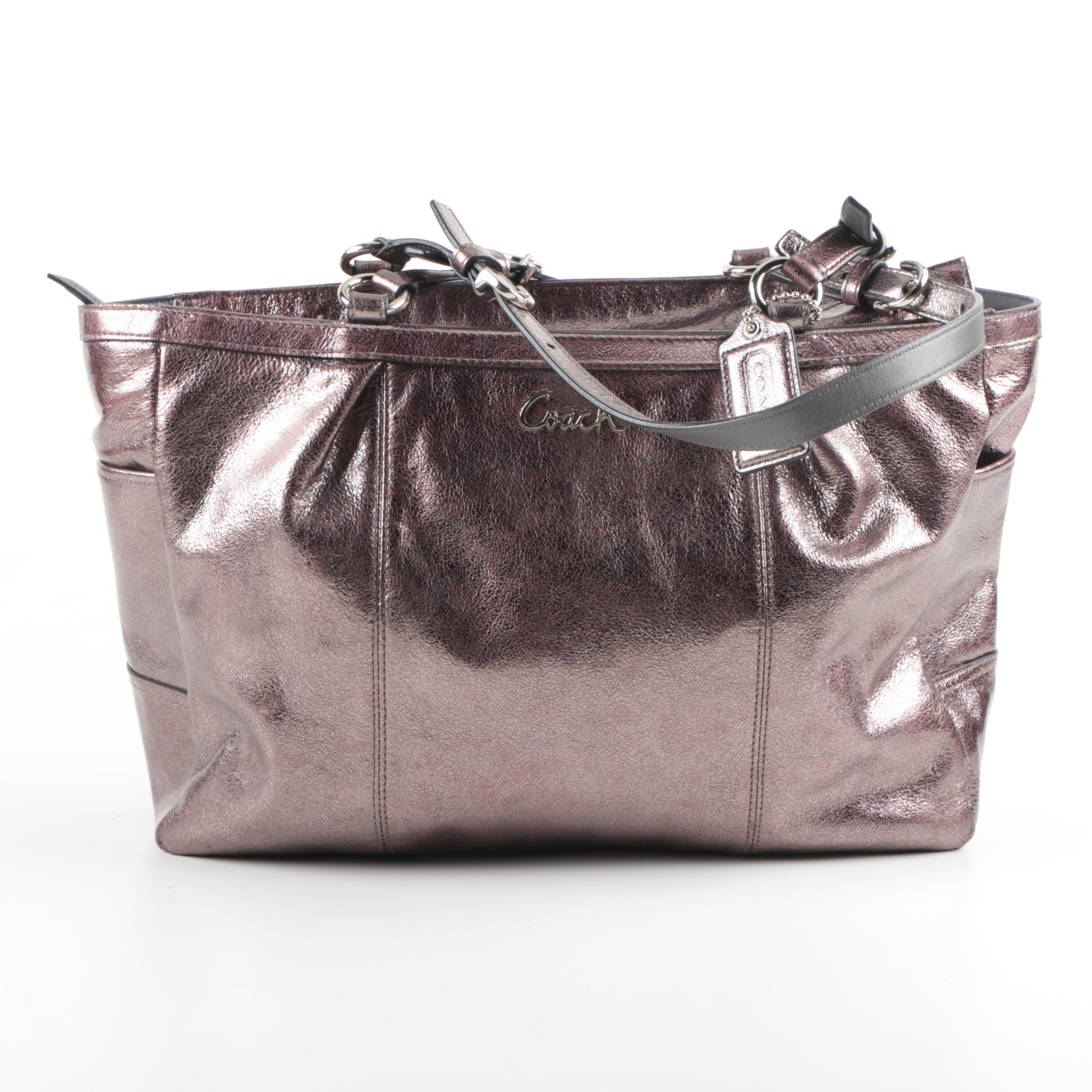 Coach Metallic Leather Gallery Tote