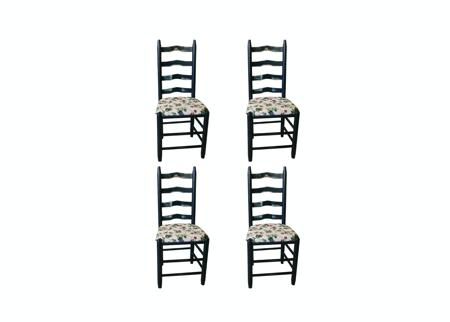 Vintage Farmhouse Style Ladder Back Side Chairs