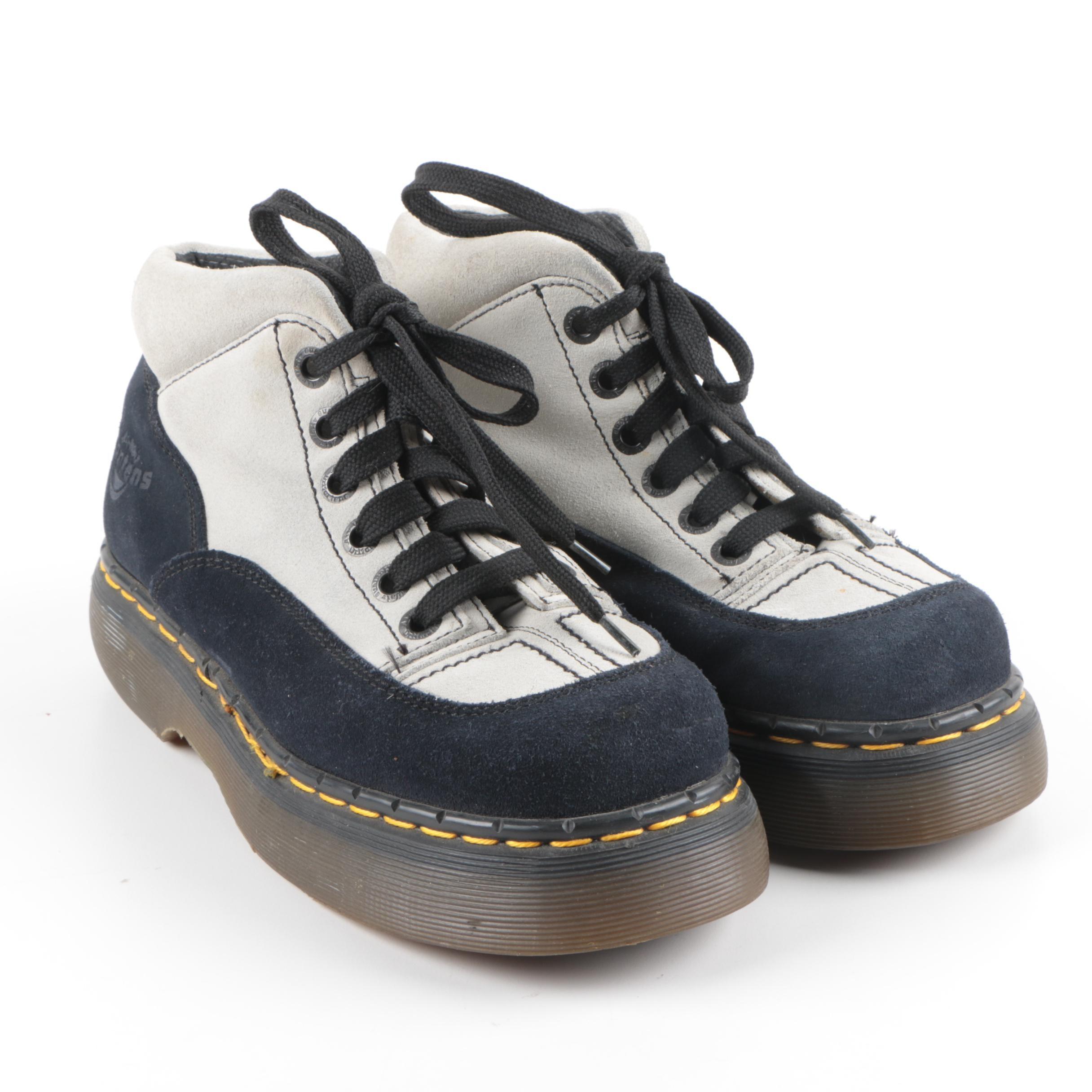 Women's Dr. Martens Airwair Suede Platform Goth Boots