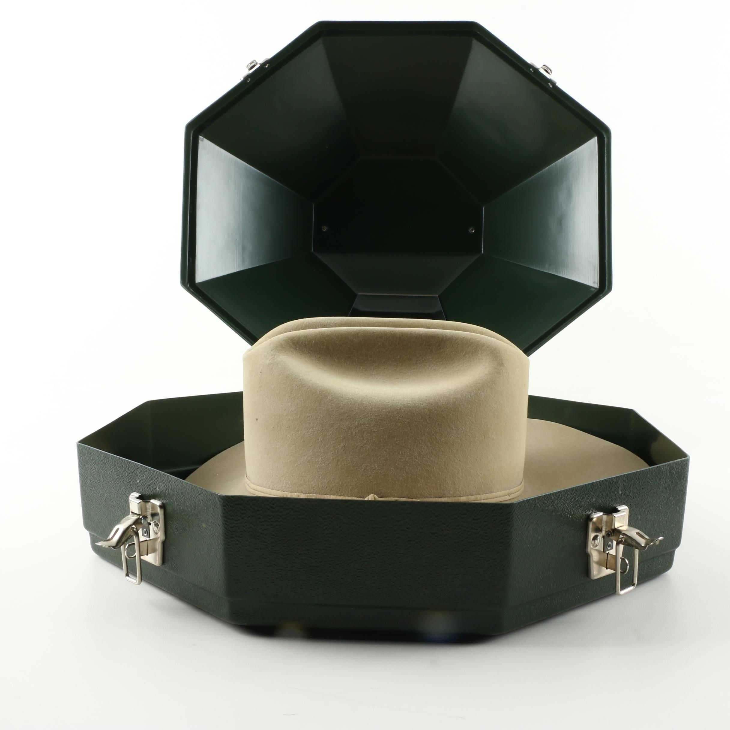 Stetson Ranch 5X Beaver Tan Felt Cowboy Hat with Case