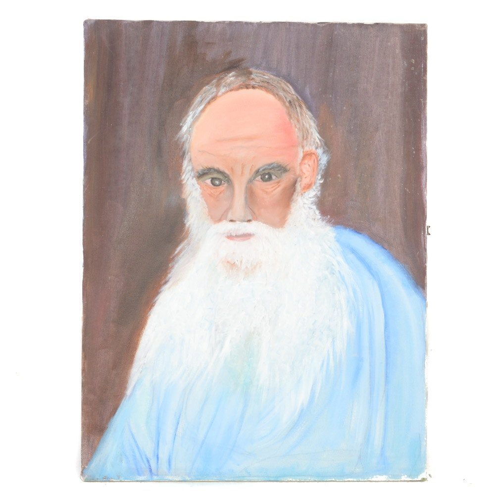 Oil on Canvas Painting of Gentleman's Portrait