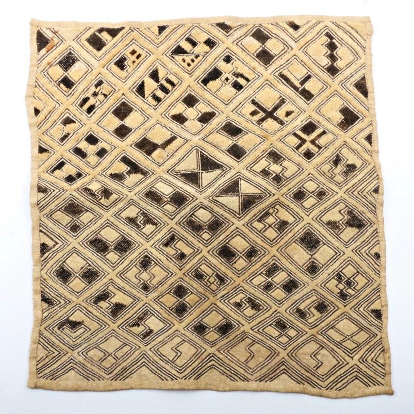 Vintage African Tribal Kuba Cloth Square Panel