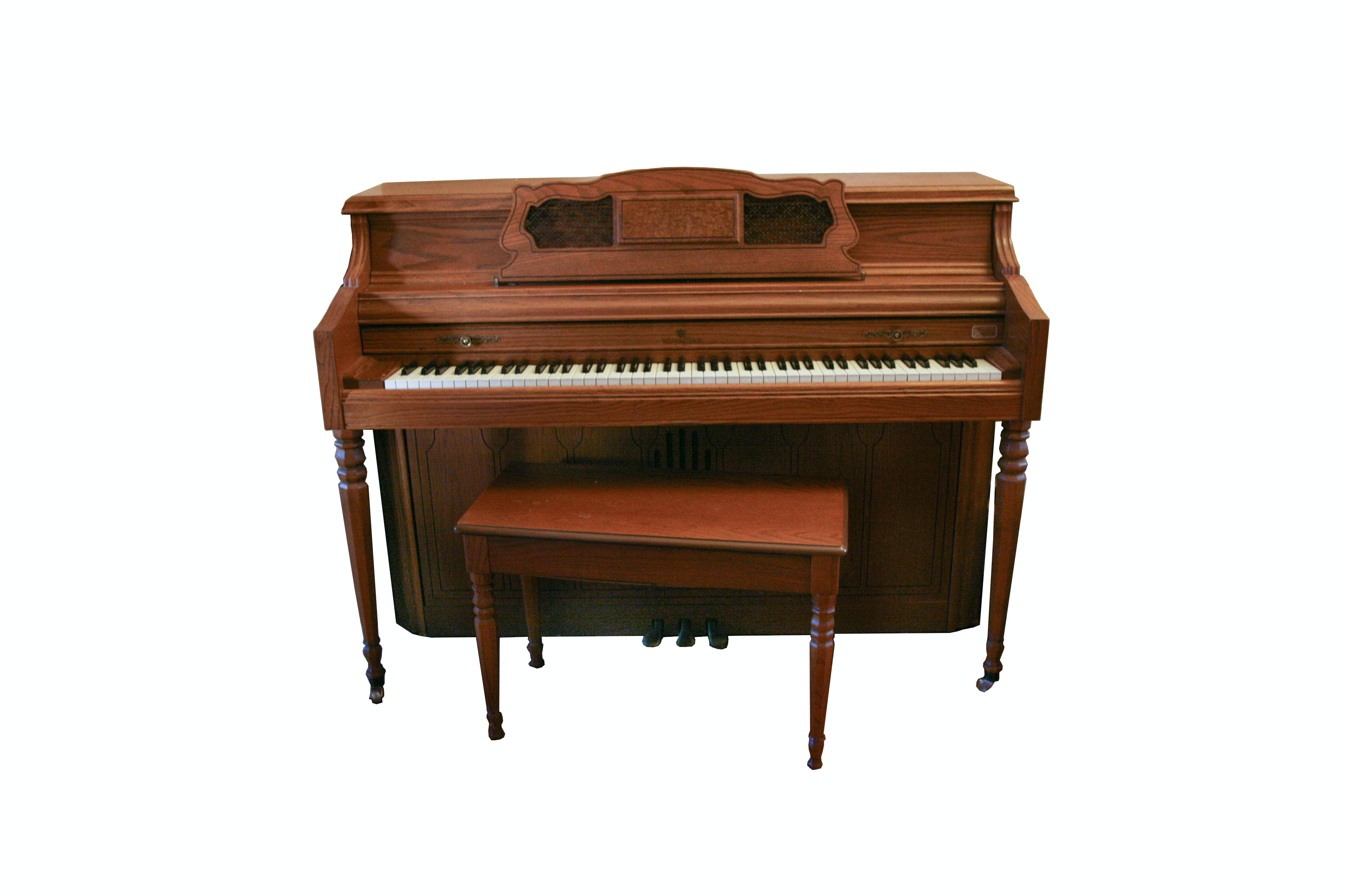 Vintage Wurlitzer Console Piano with Bench