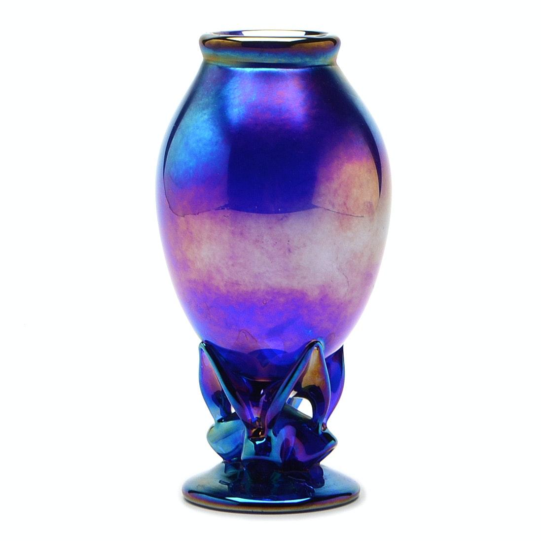 Leo Ward Art Glass Vase