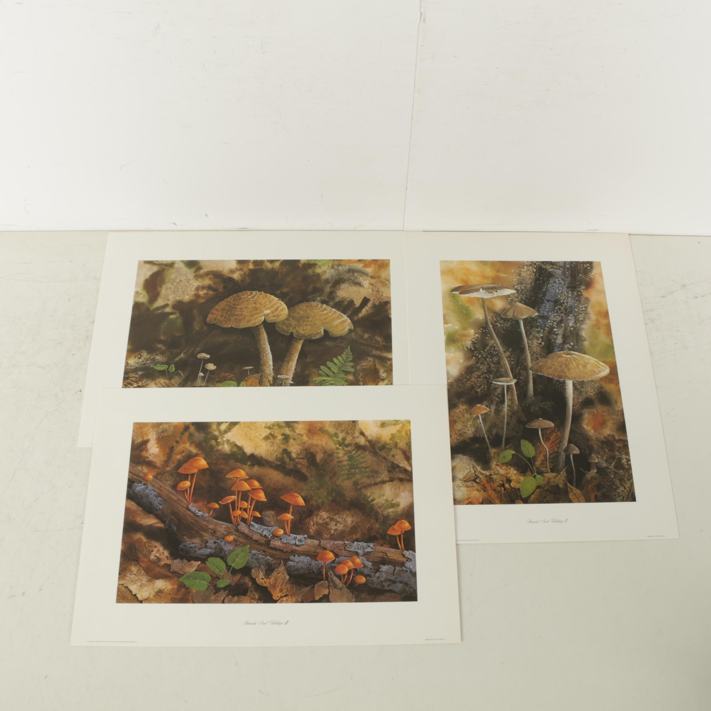 "Jean Vietor Signed Limited Edition Offset Lithographs ""Parasols and Tabletops"""