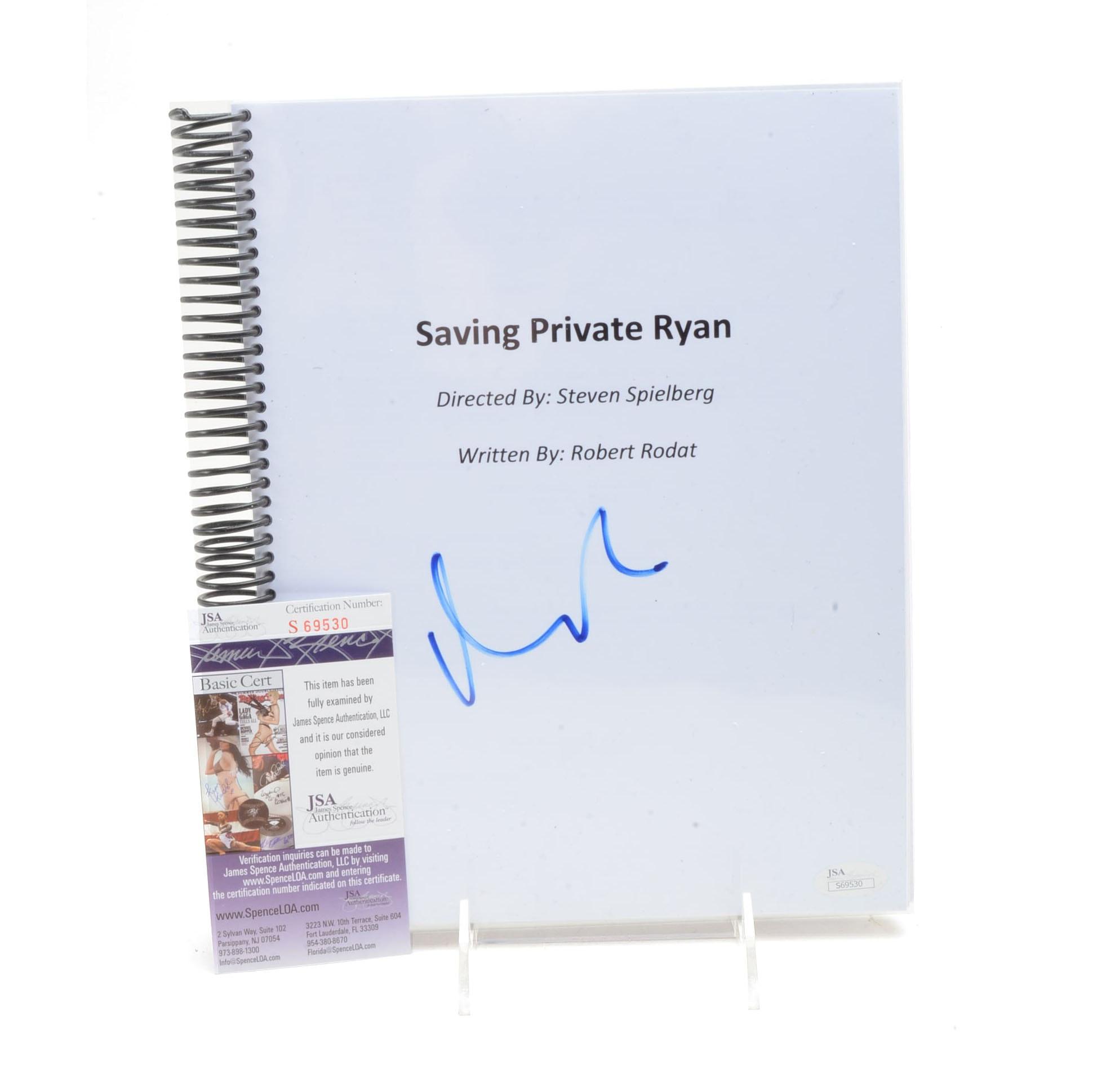 """Matt Damon Signed """"Private Ryan"""" Script  COA"""