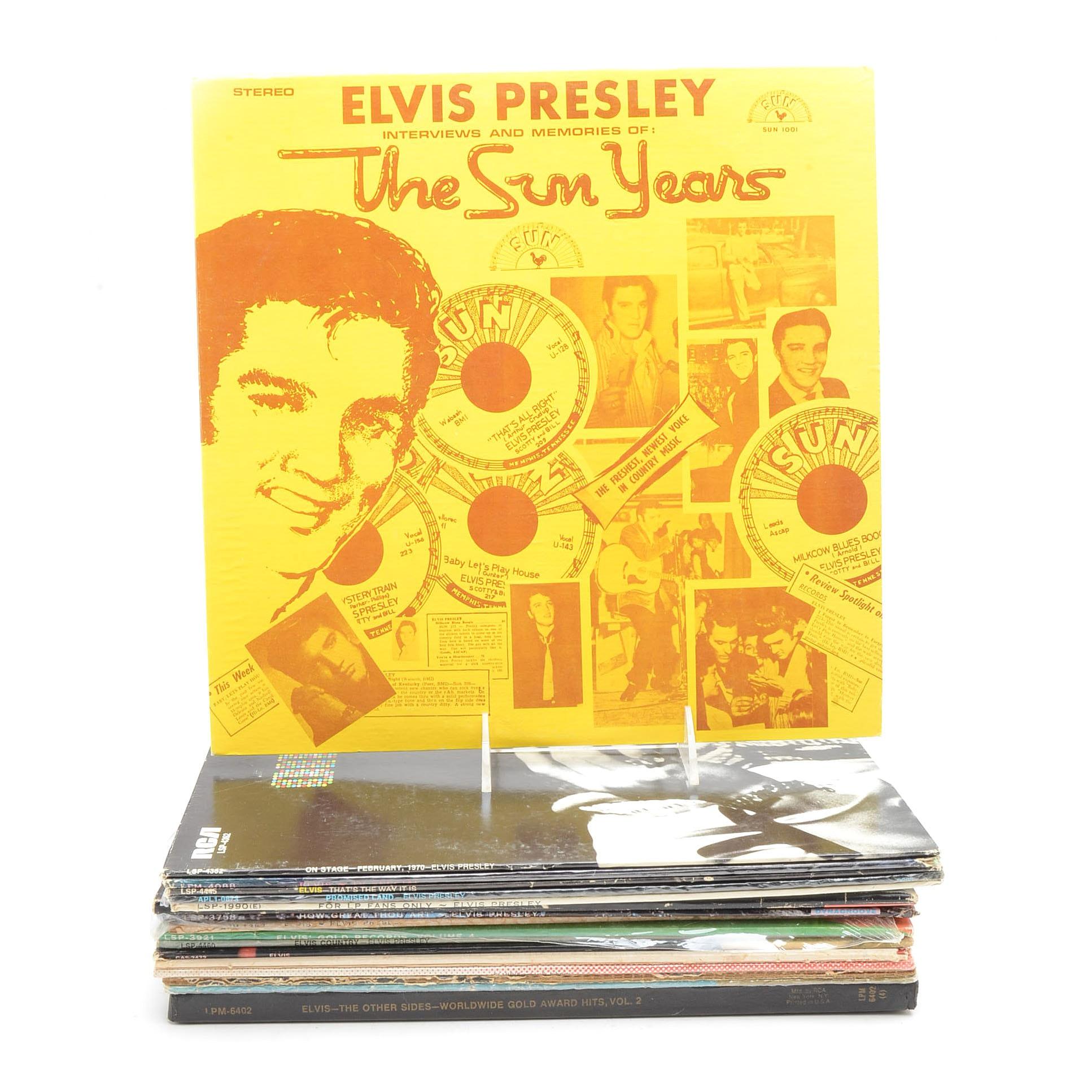 Assortment of Vintage Elvis LPs