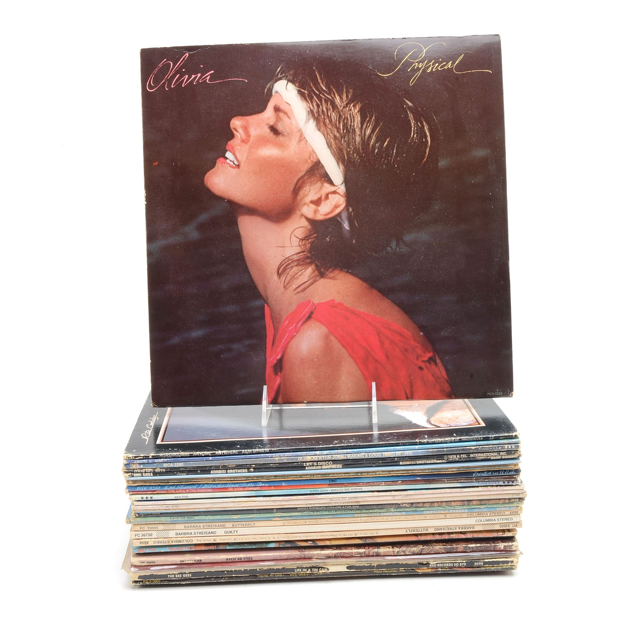 Collection of Vintage 1970's Pop and Disco LPs