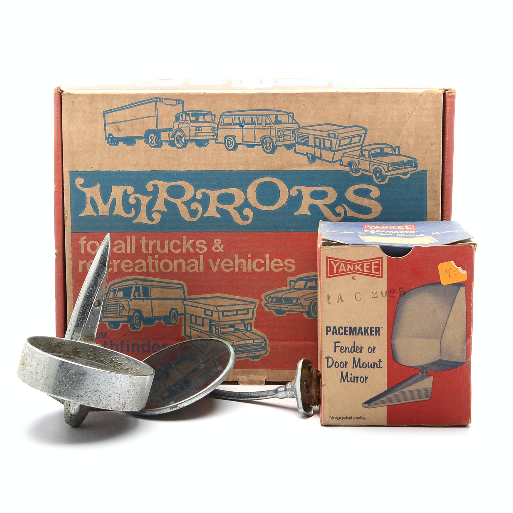 Collection of Vintage Automotive Mirrors