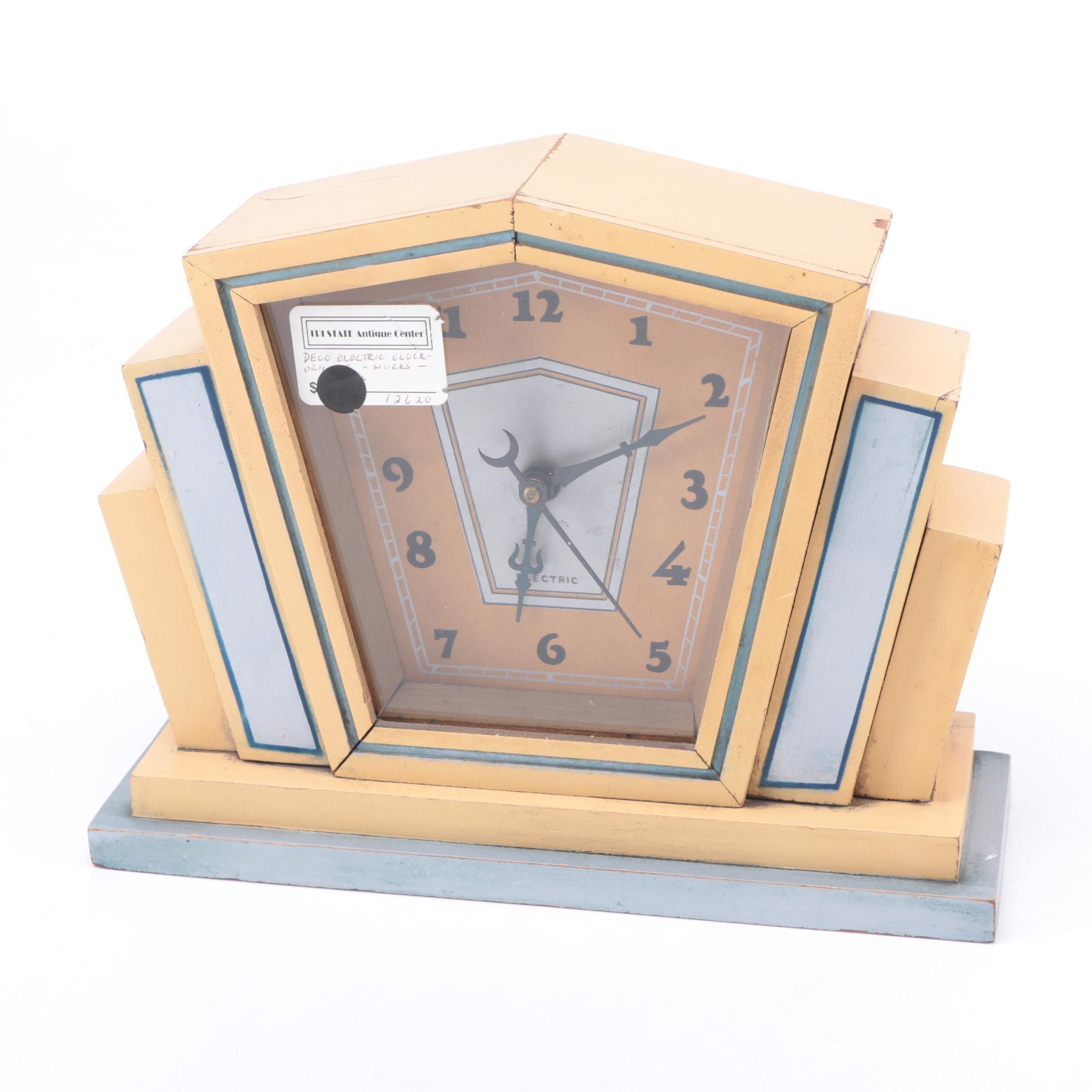 Vintage Art Deco Electric Mantel Clock