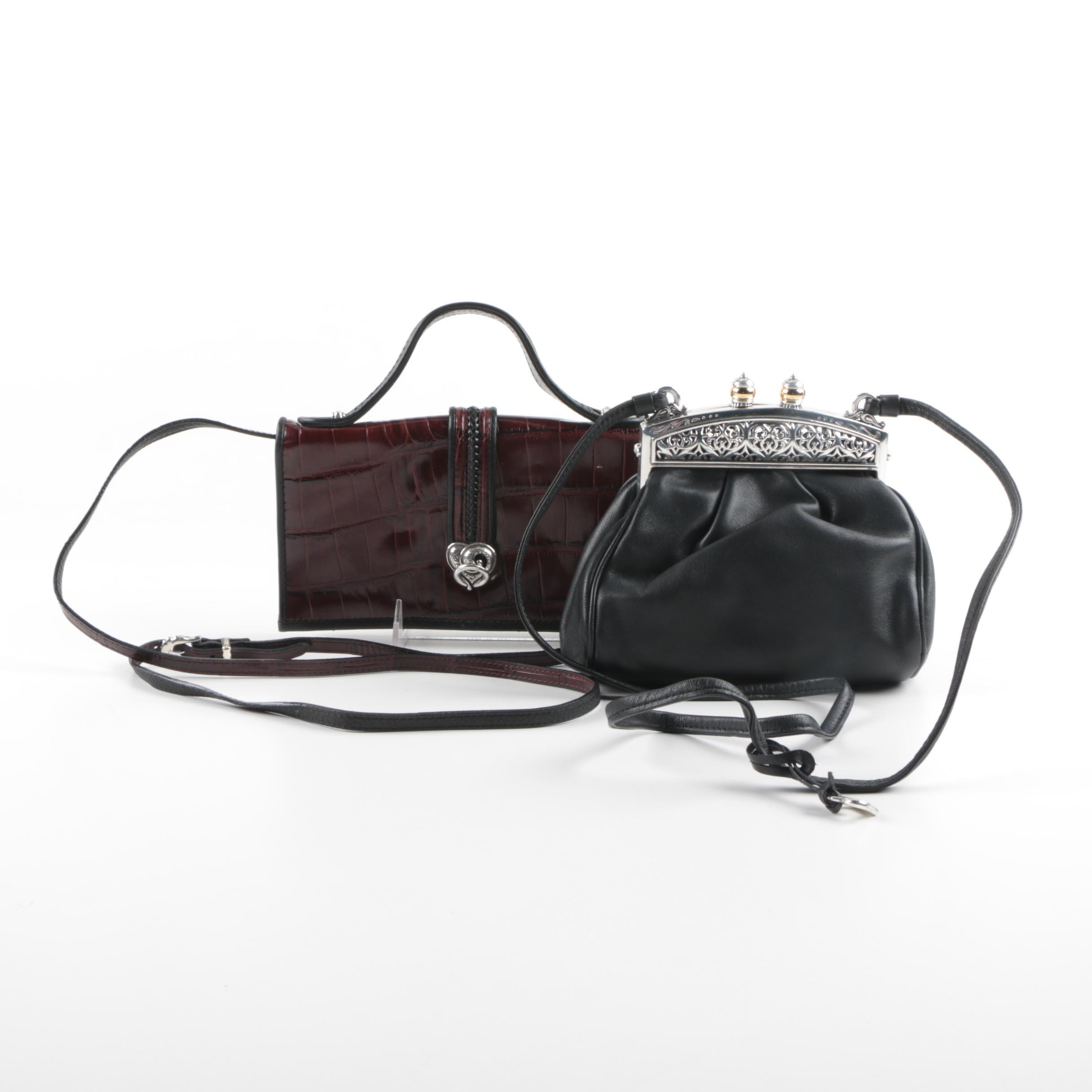 Brighton Leather Evening Crossbody and Shoulder Bag