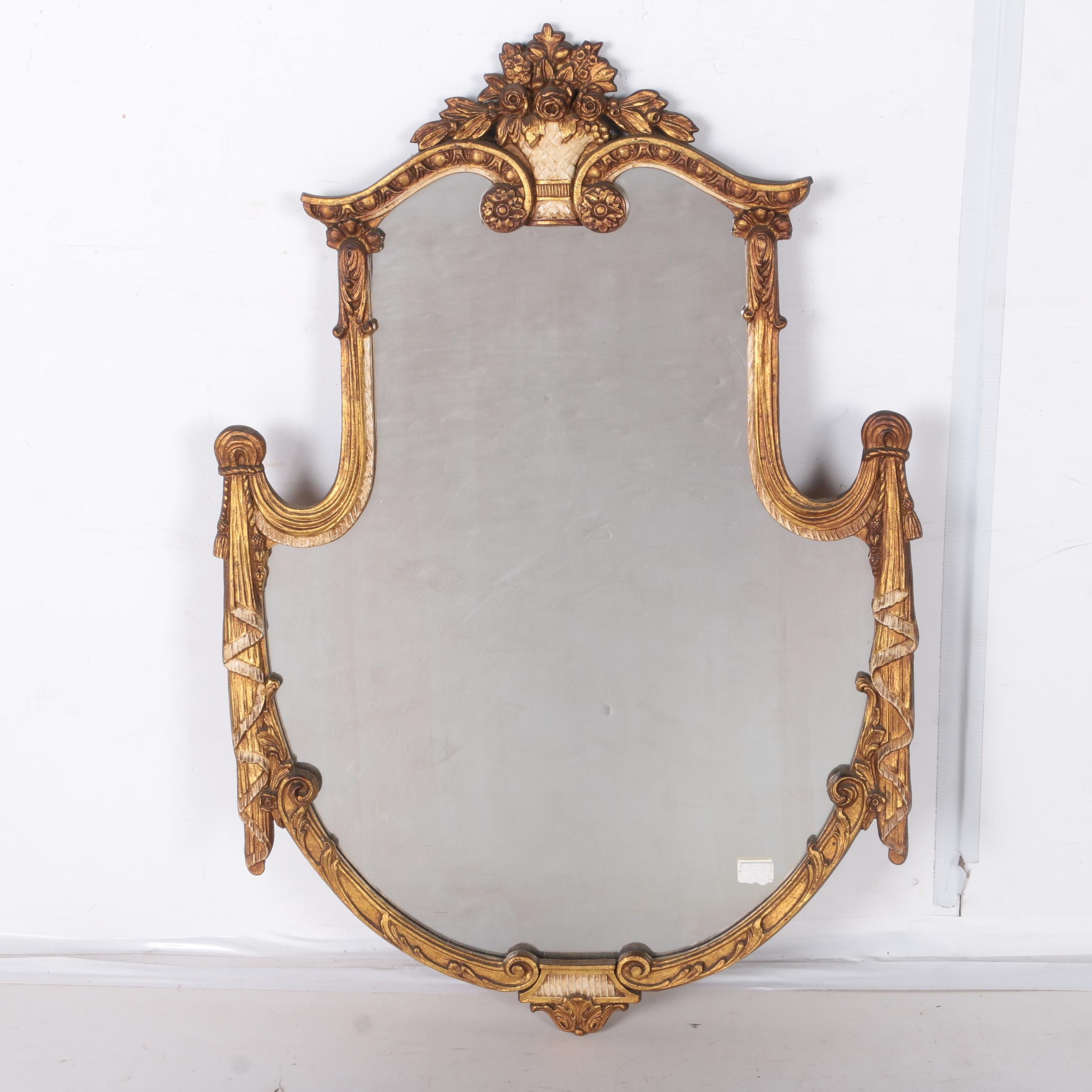 Antique Neoclassical Giltwood Wall Mirror