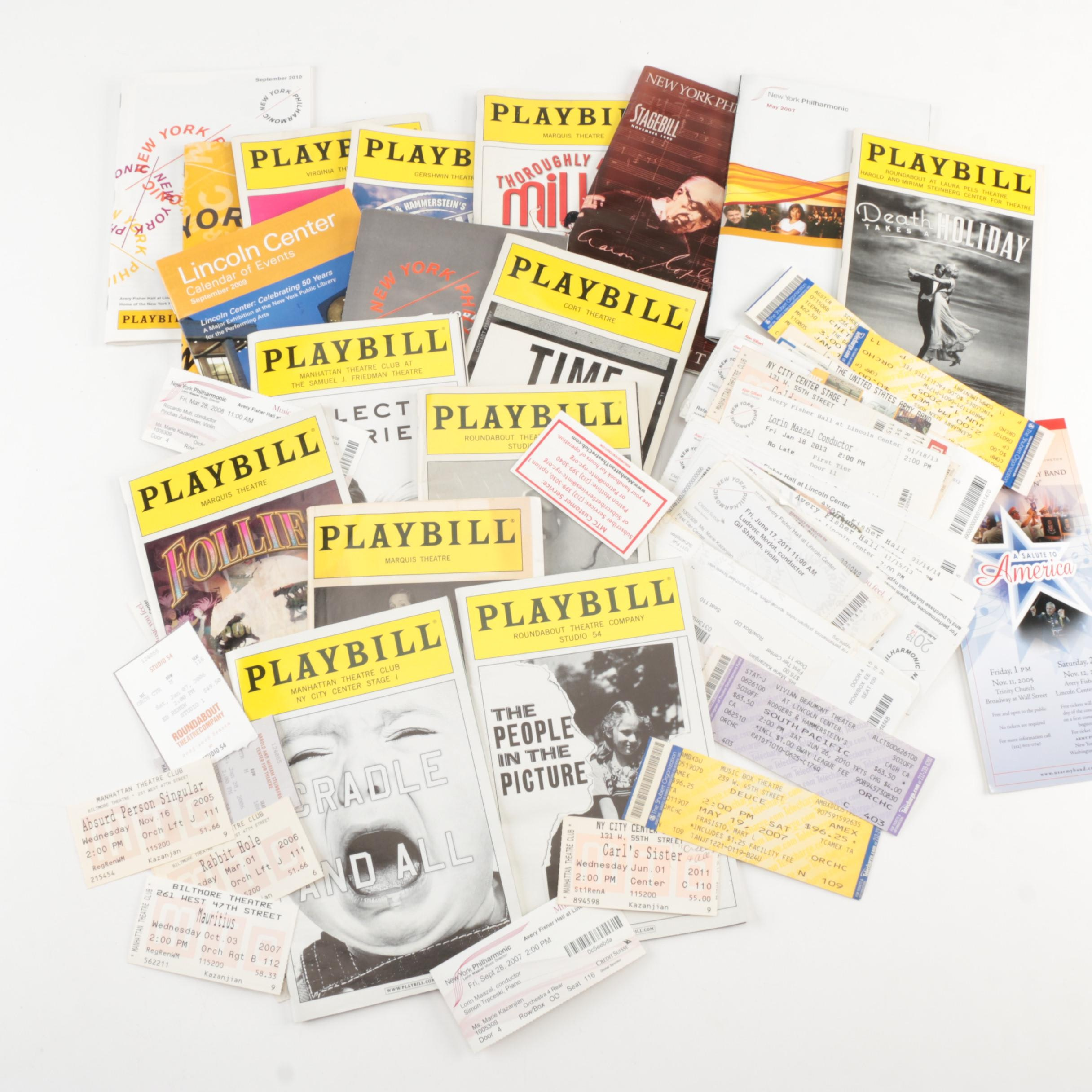 Playbills and Ticket Stubs