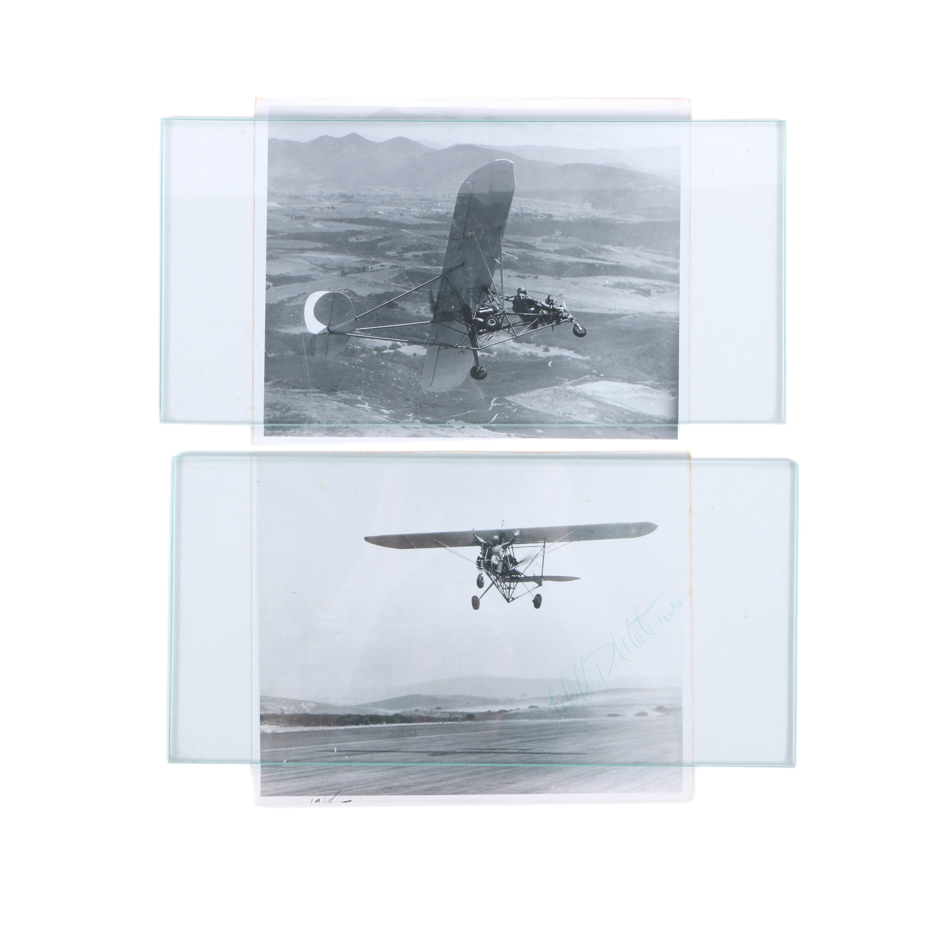 Gelatin Silver Photographs of Early Aviation with Waldo Waterman Signature