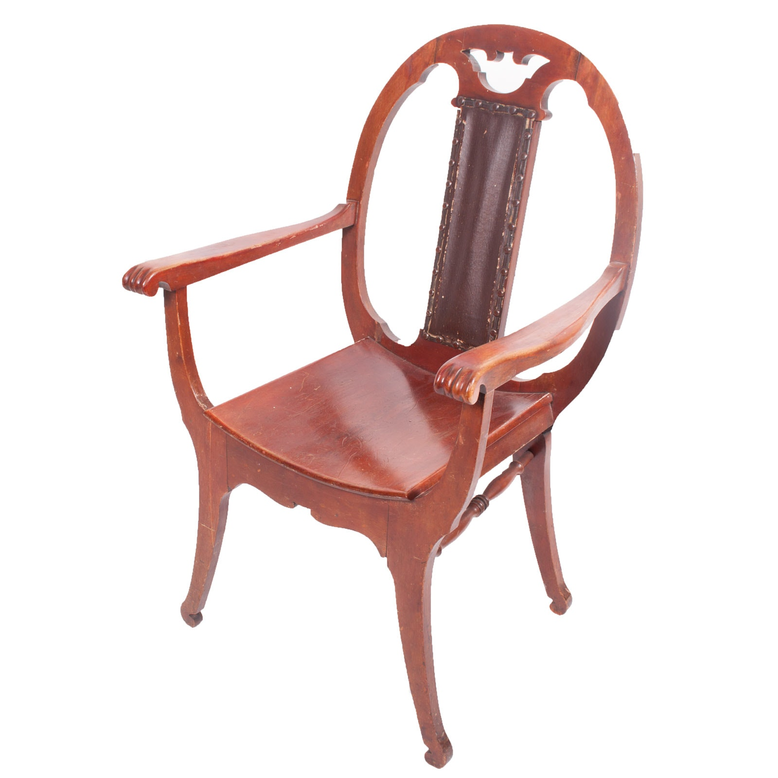 Antique Curule Style Armchair by H. C. Dexter Company