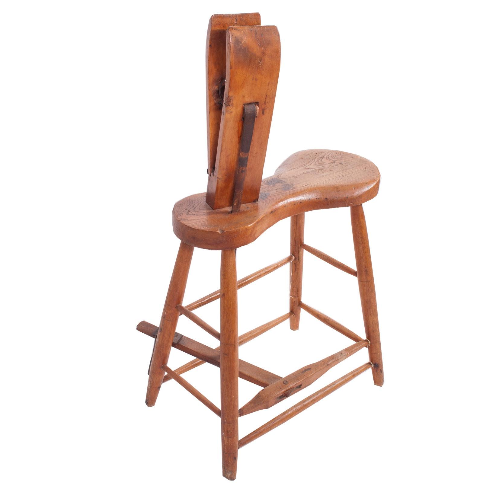 Antique Wood Saddle Maker
