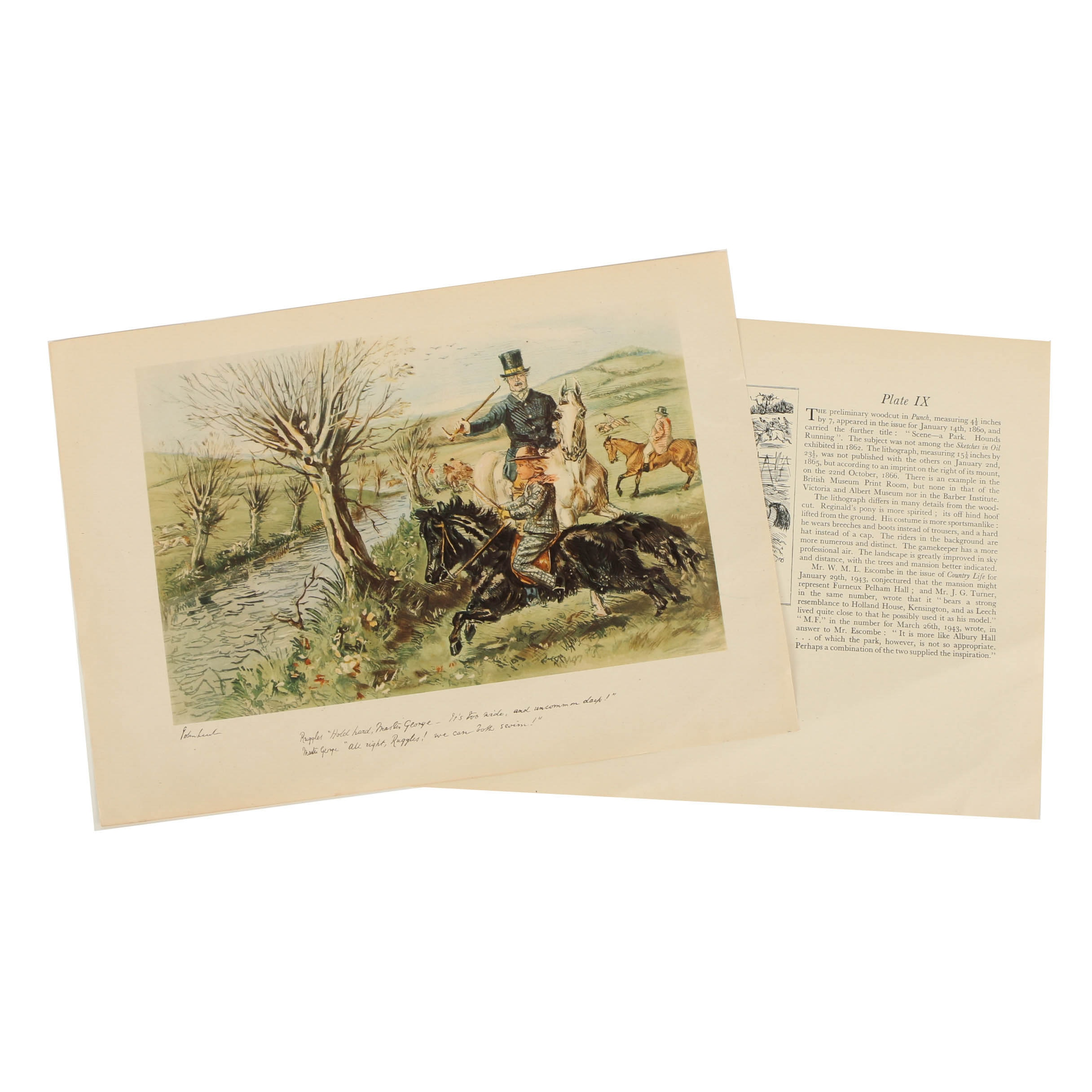 Offset Lithographs of Hunting Scenes