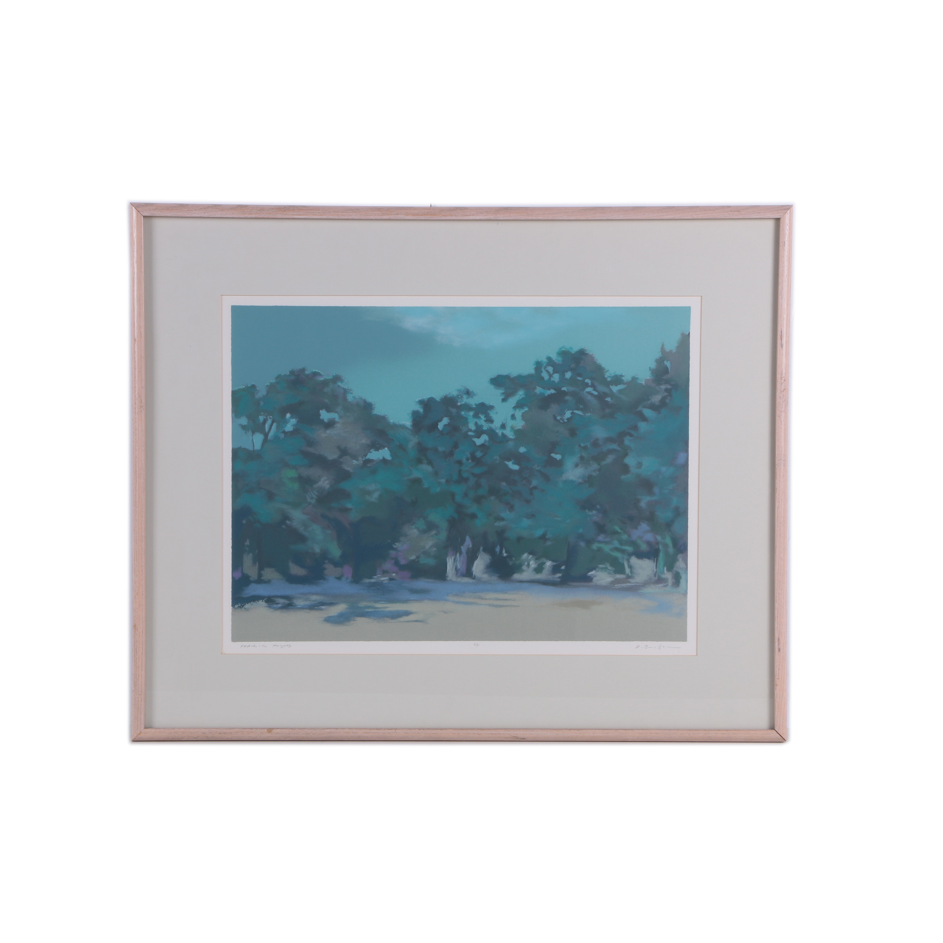 """D. Bradshaw Artist's Proof Lithograph on Paper """"Prairie Heights"""""""