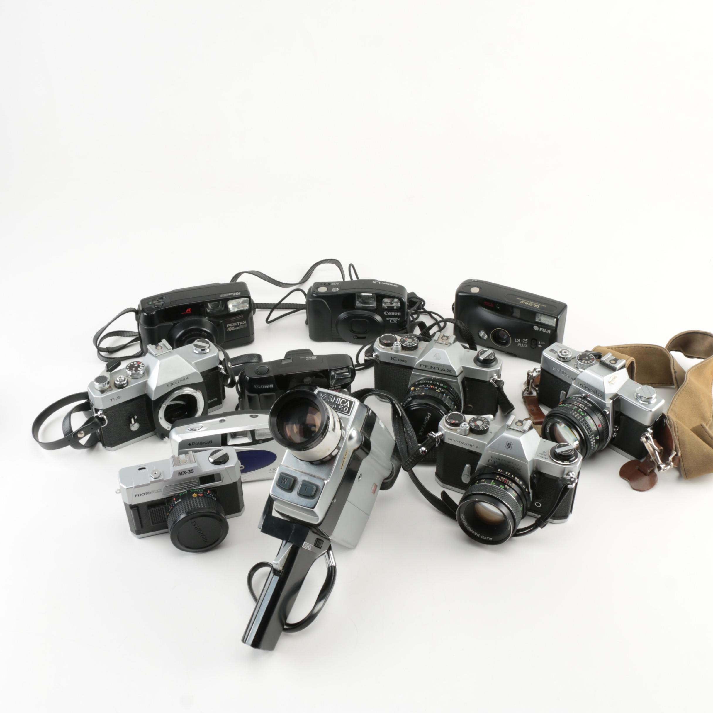Minolta, Canon and Other Vintage Cameras