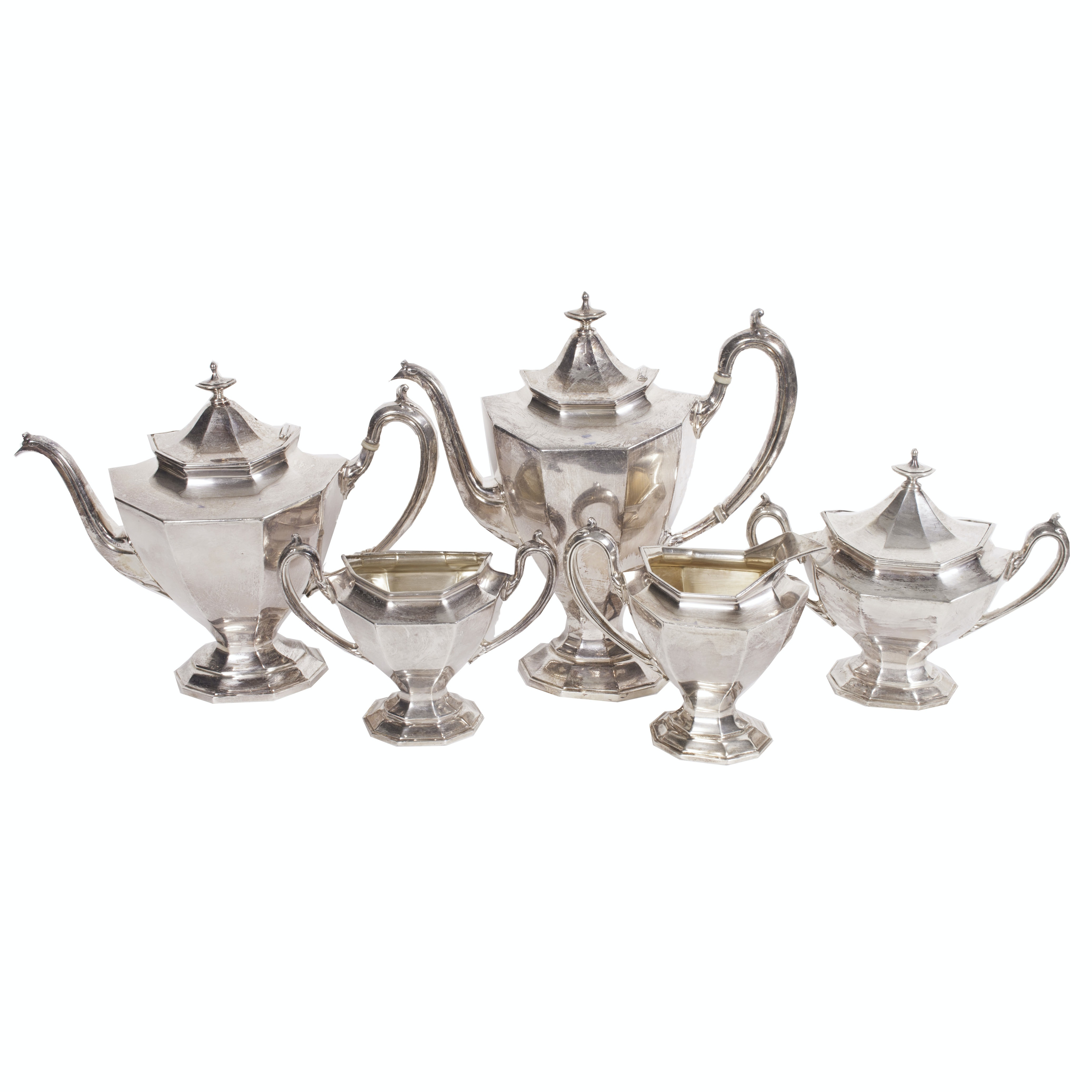"Reed & Barton Silver Plate ""Sierra"" Tea and Coffee Service"
