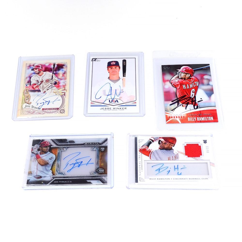 Current Cincinnati Reds Autographed Baseball Cards