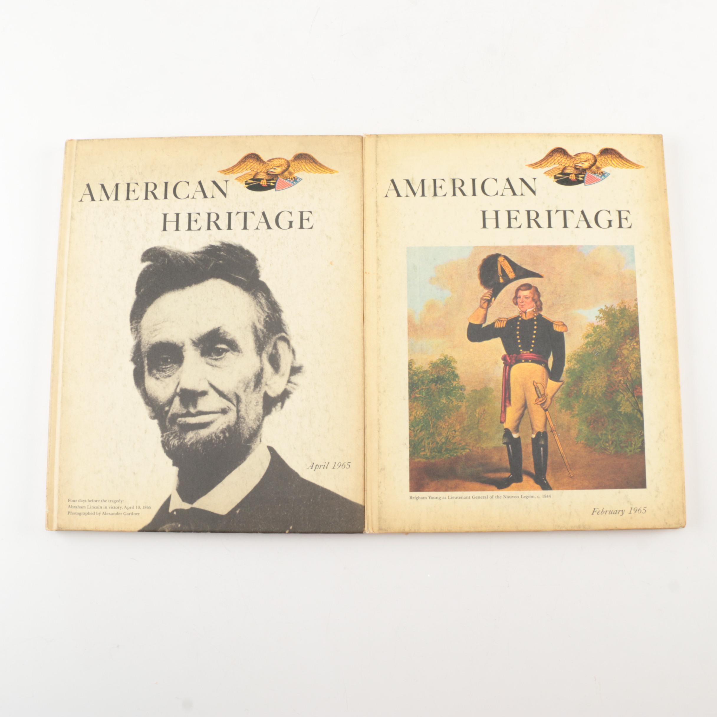 "1965 ""American Heritage"" Hardcover Magazines"
