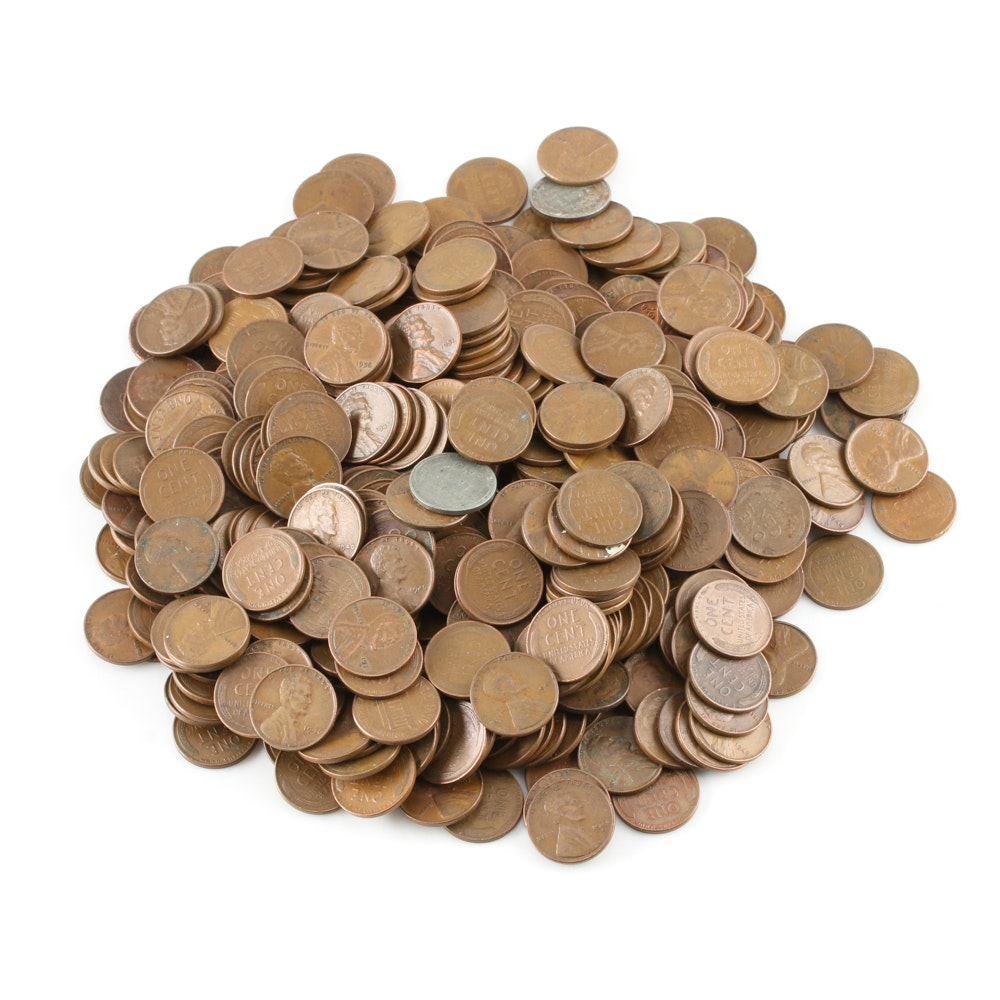Approximately 400 Lincoln Wheat Cents