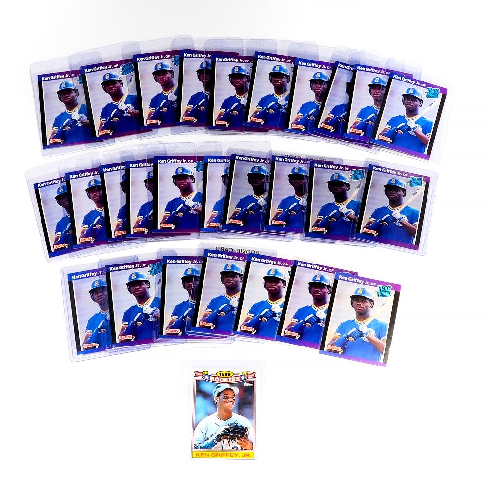 Twenty-Eight 1989 Ken Griffey Jr. Rookie Baseball Cards