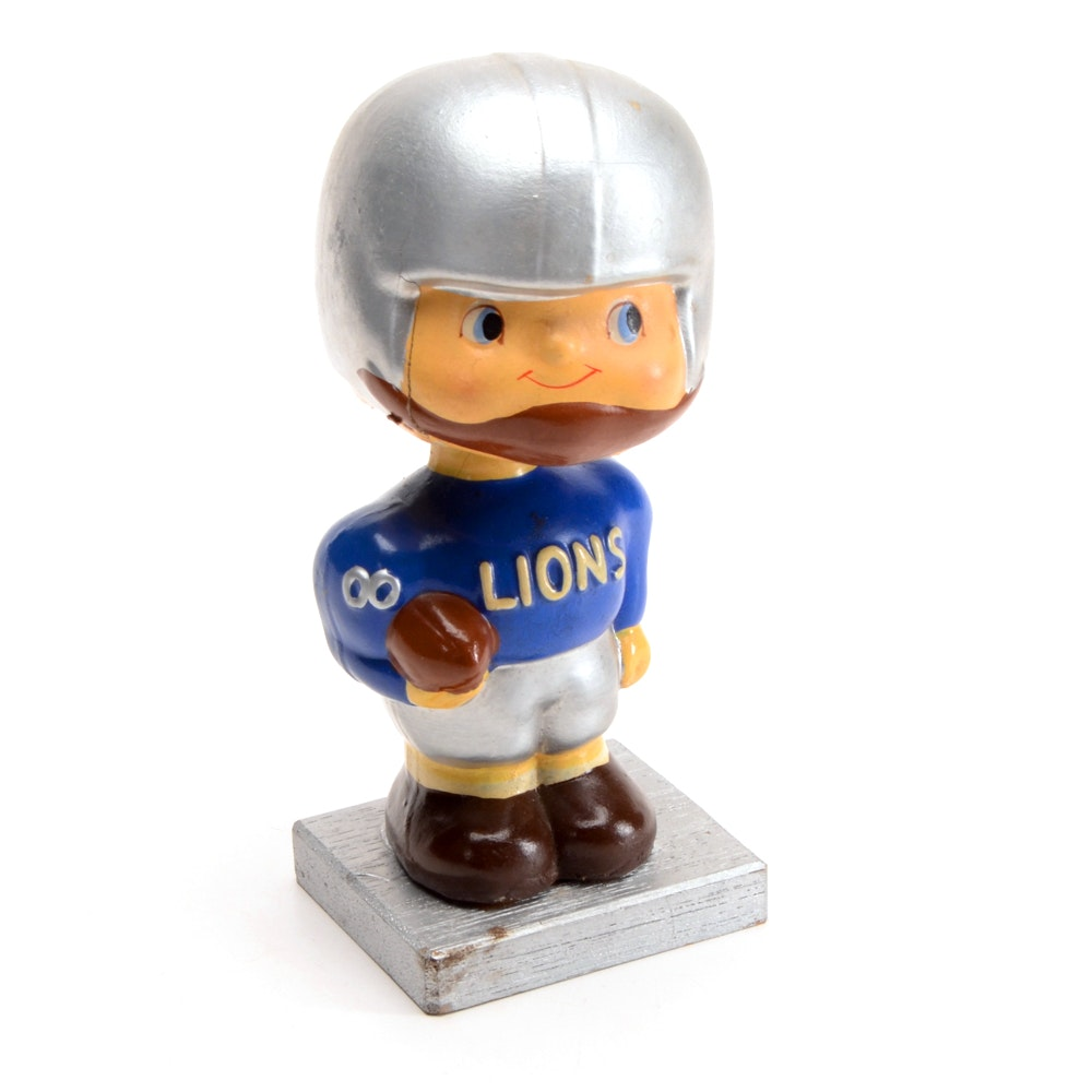 Detroit Lions 1960s Square Base Bobblehead