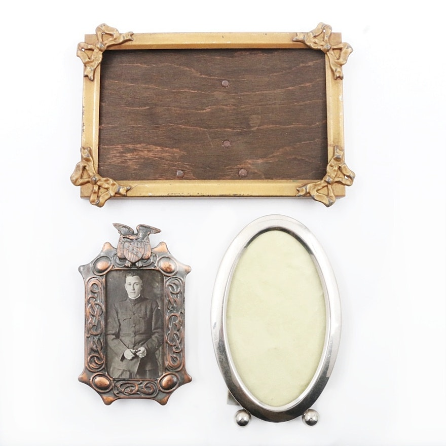 Three Vintage Miniature Frames in Various Shapes : EBTH